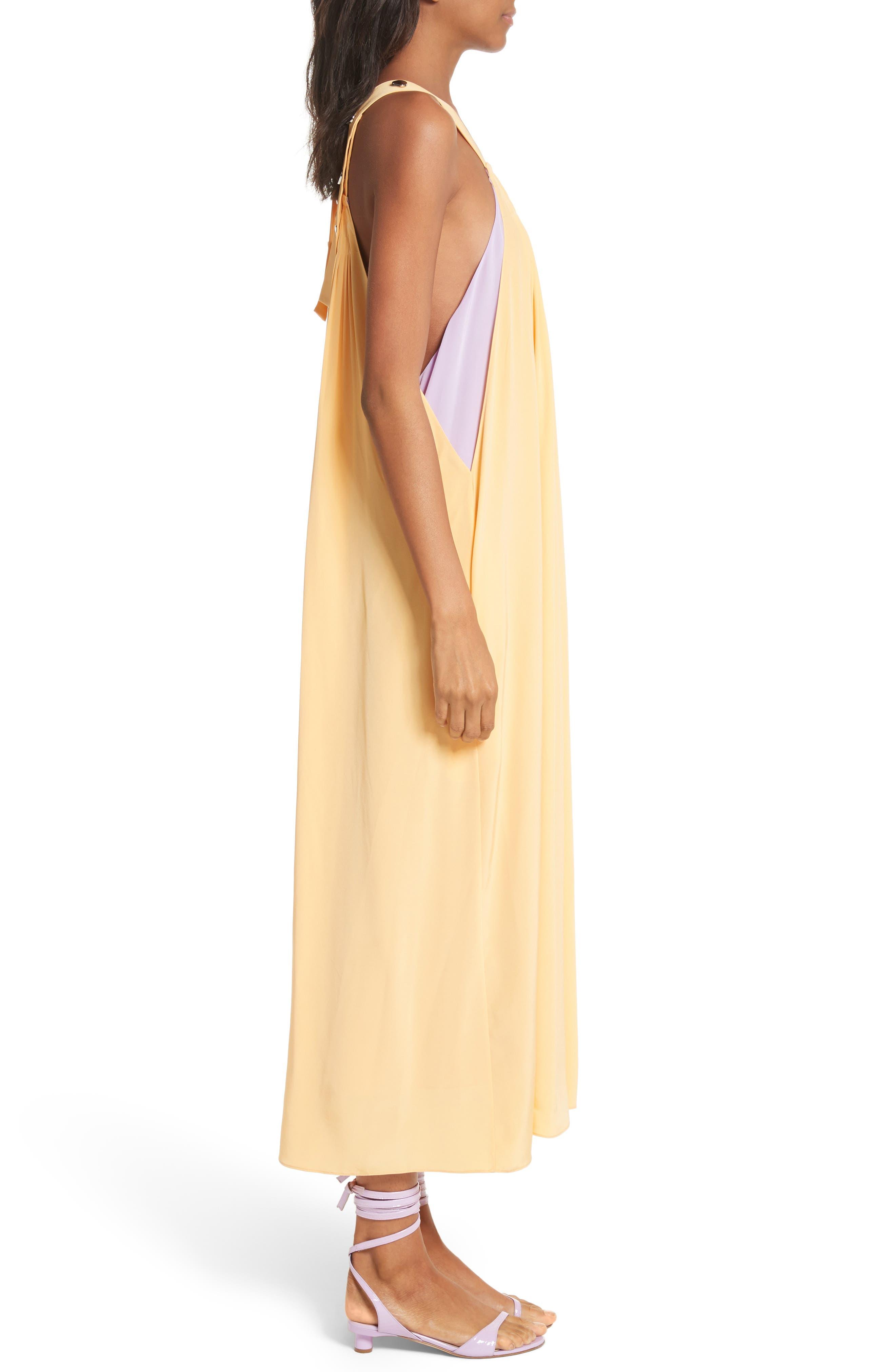 Silk Overall Dress,                             Alternate thumbnail 3, color,                             829