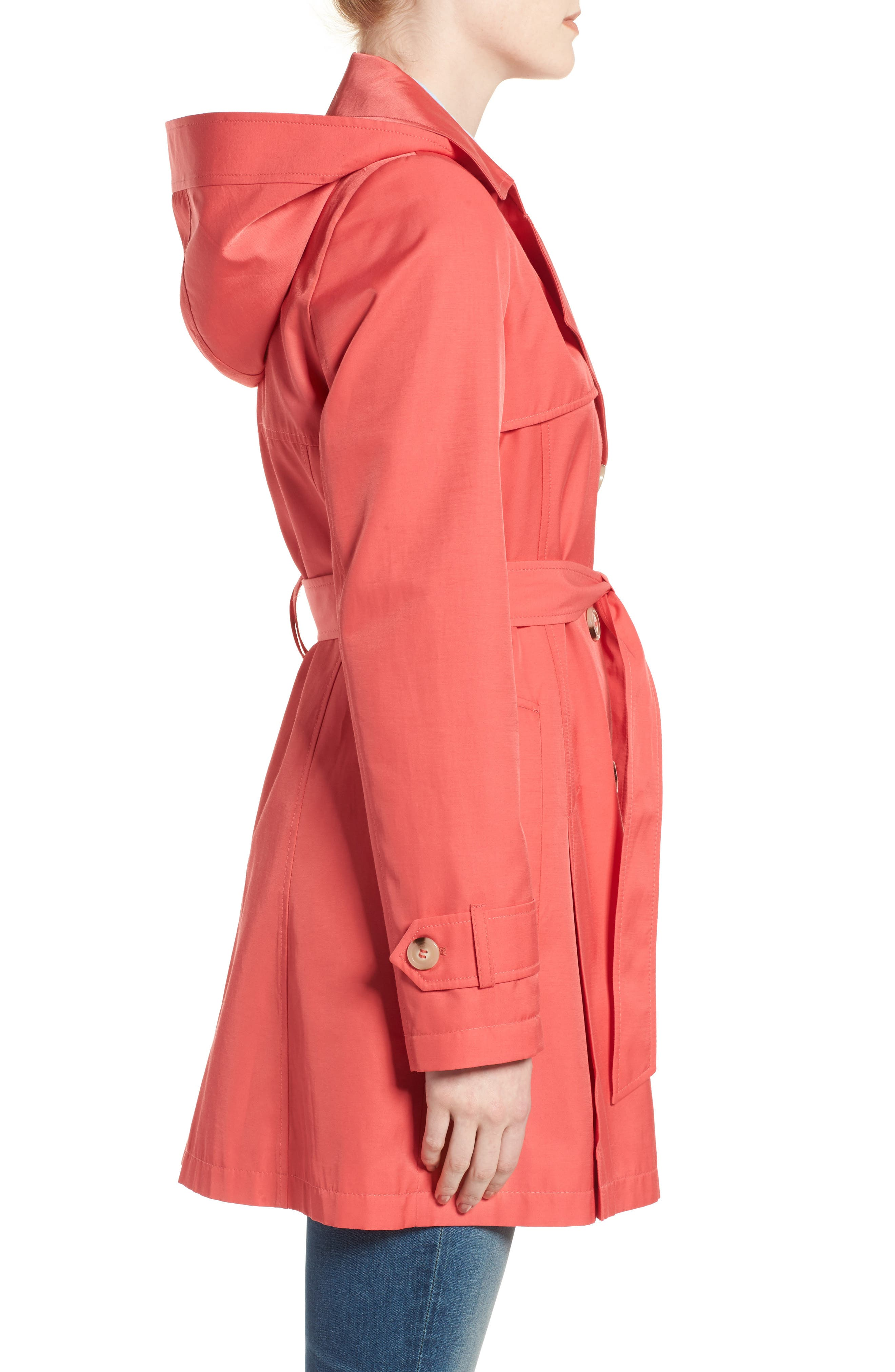 Detachable Hood Trench Coat,                             Alternate thumbnail 25, color,