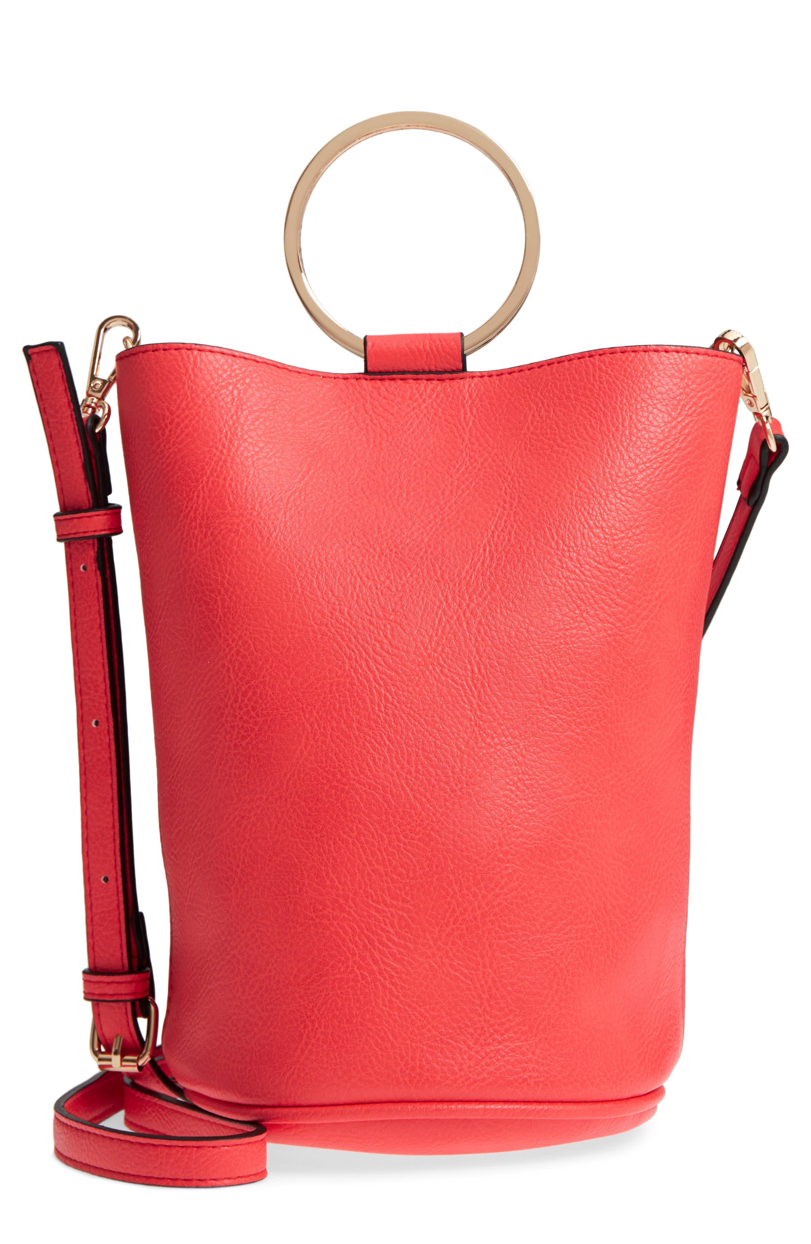 Mali + Lili Ilia Vegan Leather Ring Handle Bucket Bag,                             Main thumbnail 3, color,