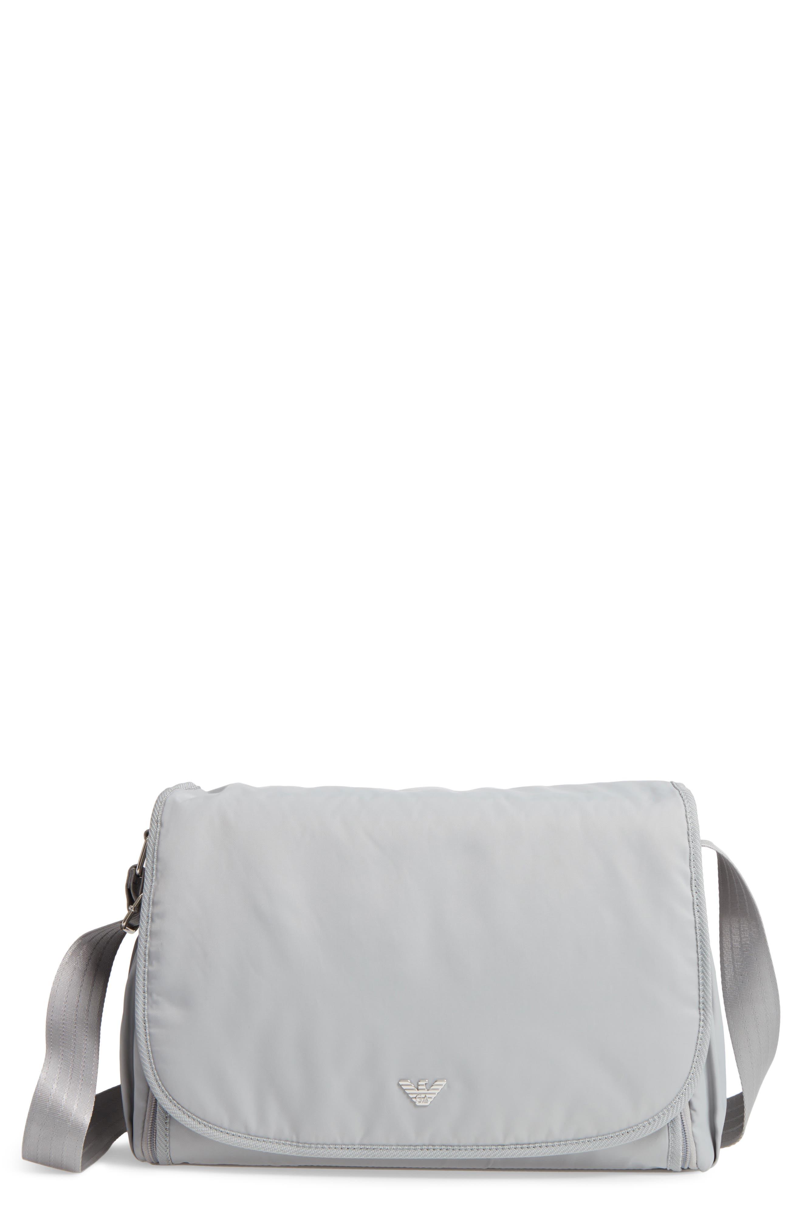 Nylon Messenger Diaper Bag,                         Main,                         color, 054