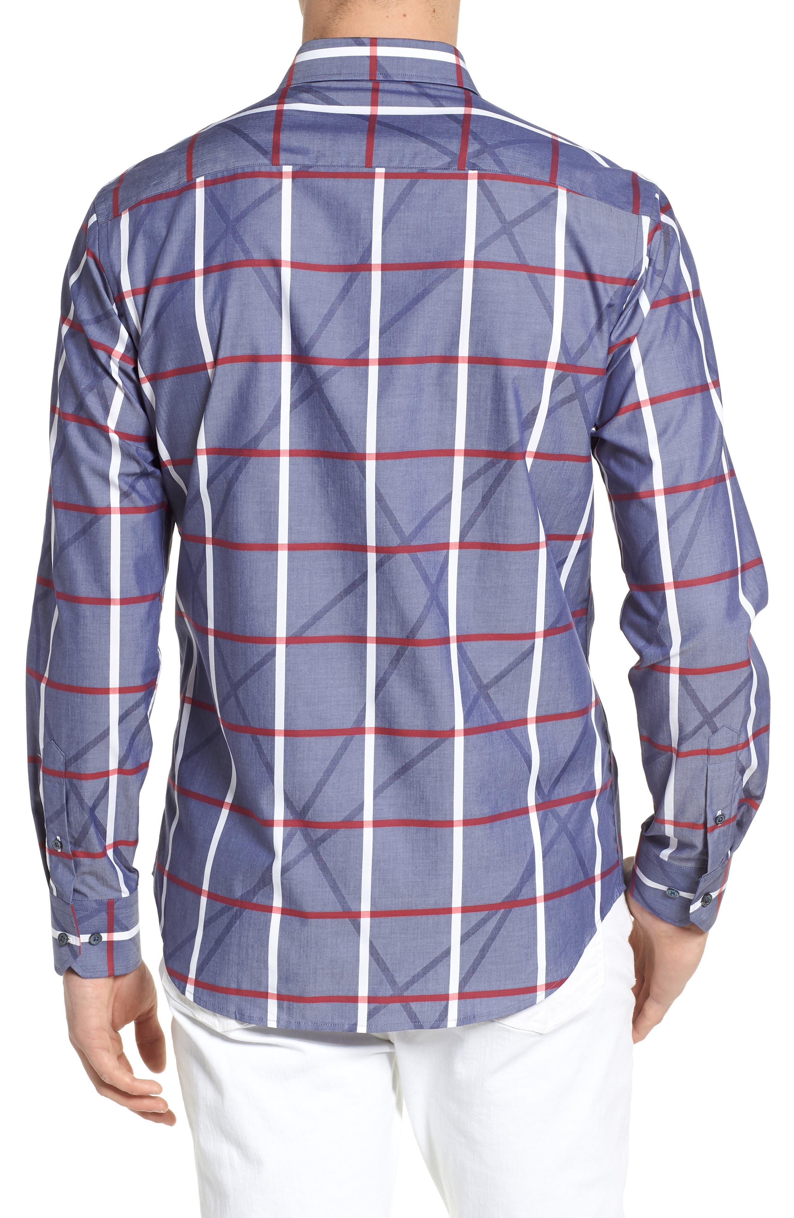 Woven Sport Shirt,                             Alternate thumbnail 2, color,                             411