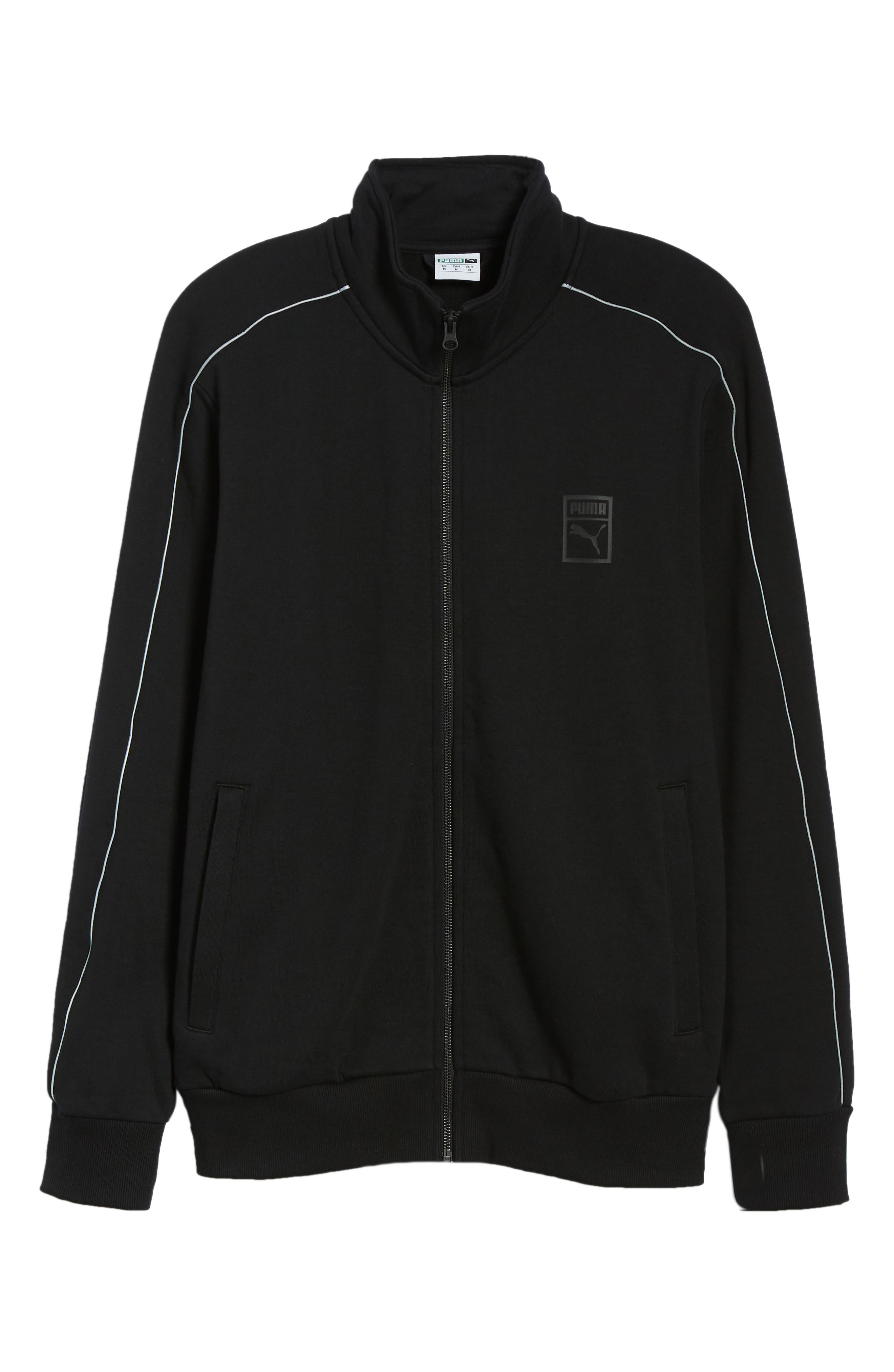Chains T7 Track Jacket,                             Alternate thumbnail 5, color,                             PUMA BLACK/ GOLD