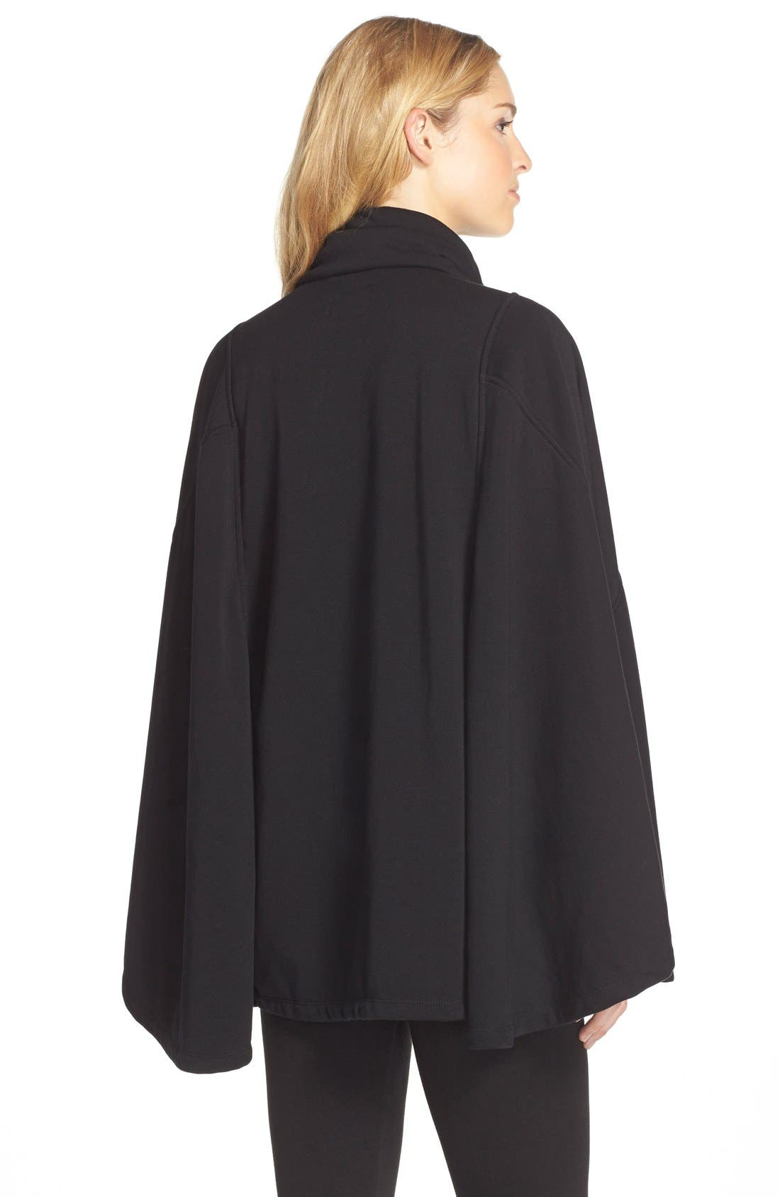 Pichot Turtleneck Poncho,                             Alternate thumbnail 3, color,                             BLACK