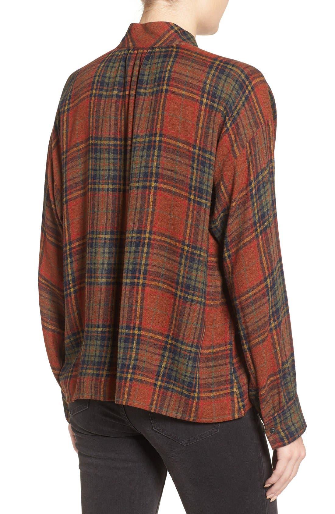 Highroad Plaid Popover Shirt,                             Alternate thumbnail 6, color,                             800