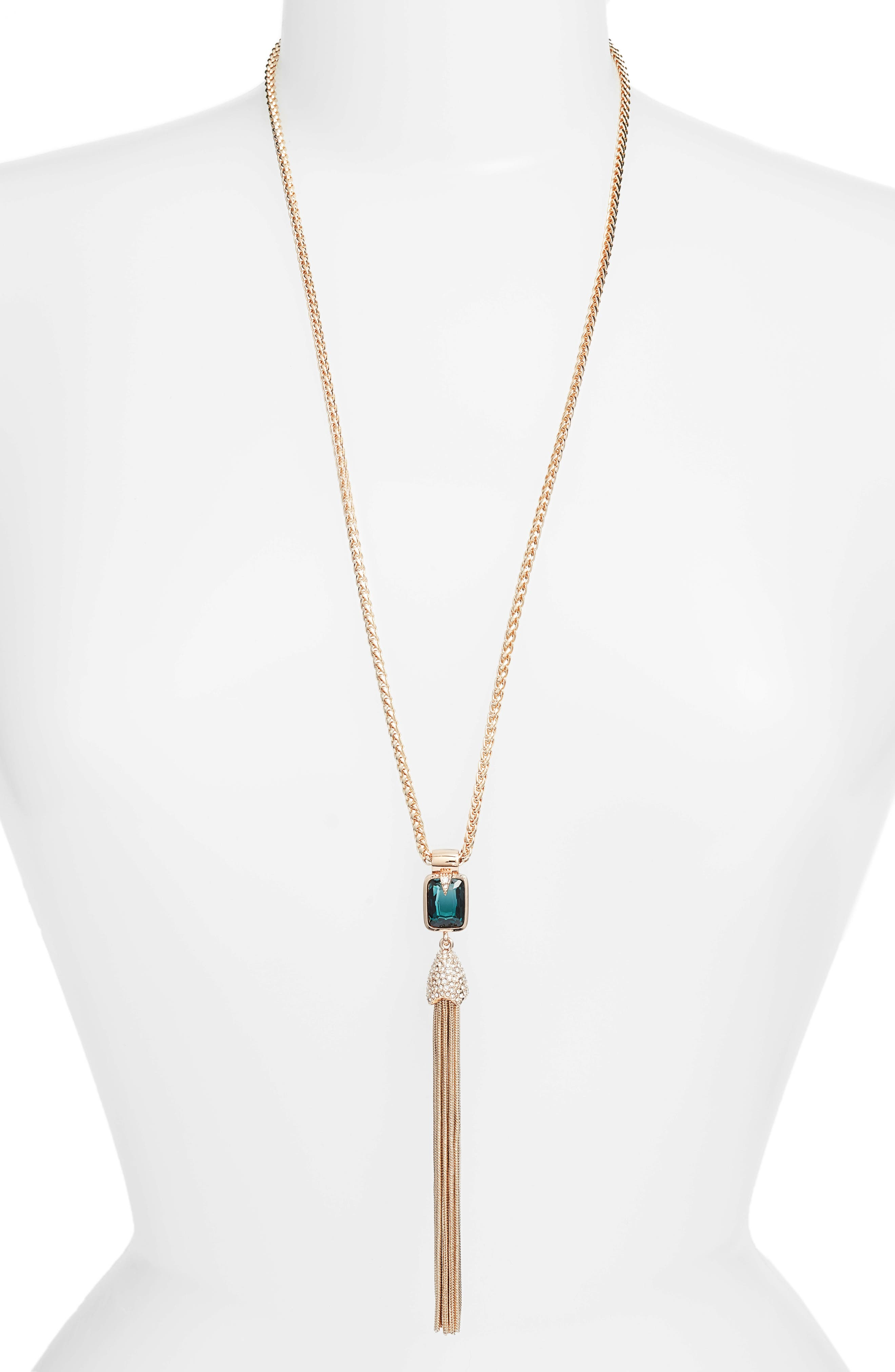 Tassel Pendant Necklace,                         Main,                         color, 650