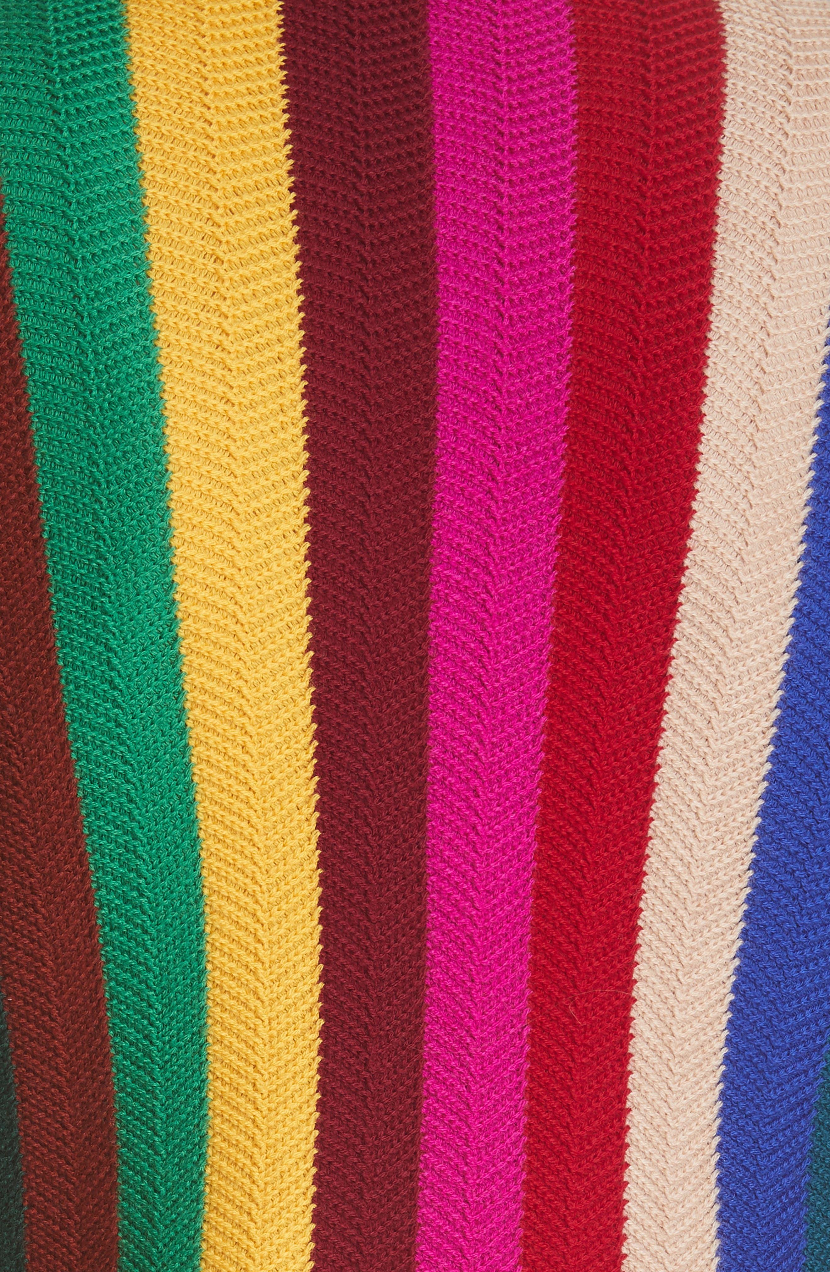 Chevron Vertical Stripe Wool Blend Scallop Hem Sweater,                             Alternate thumbnail 5, color,                             937