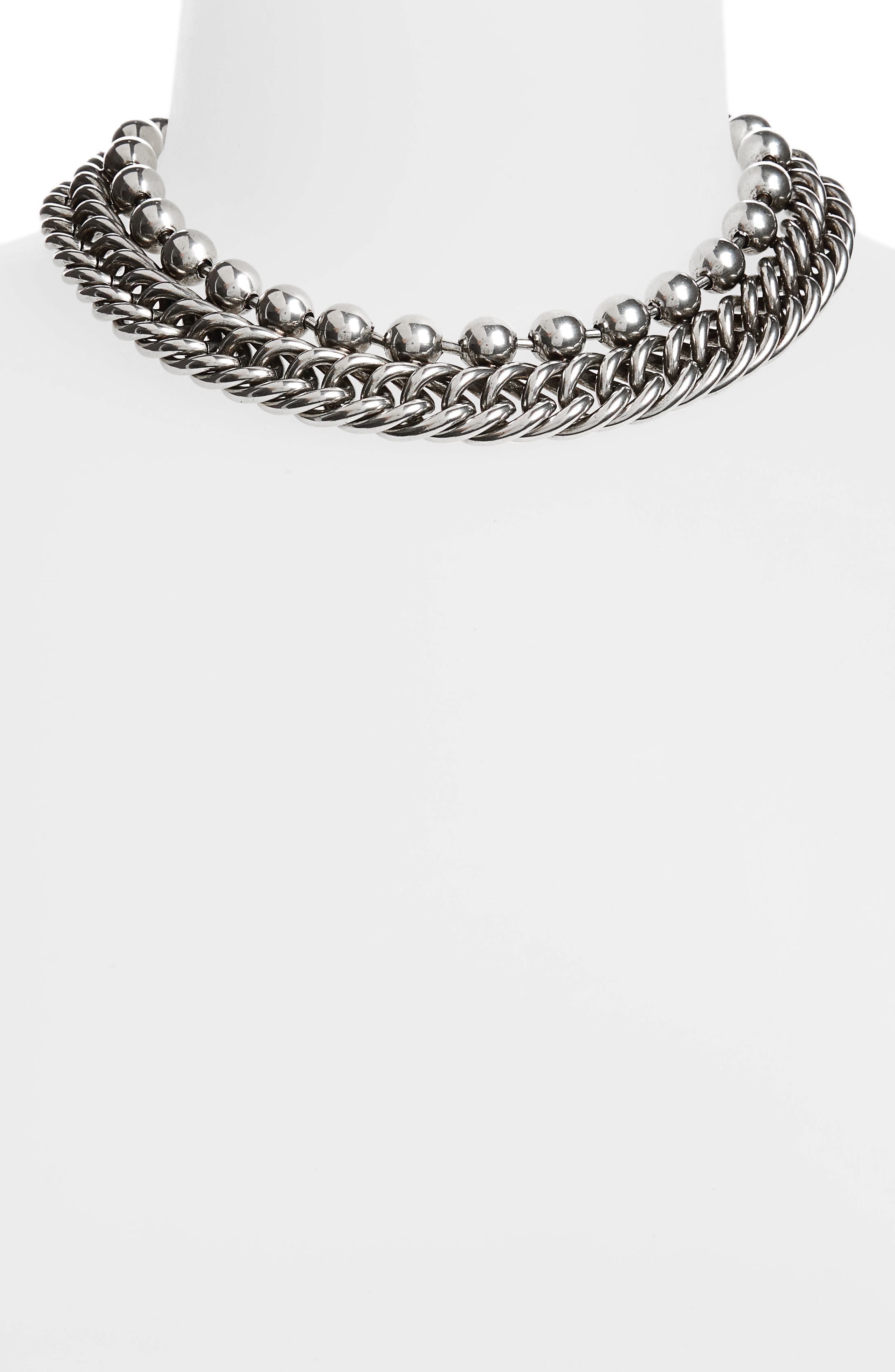 Ball & Chain Stacked Necklace,                             Alternate thumbnail 2, color,                             710