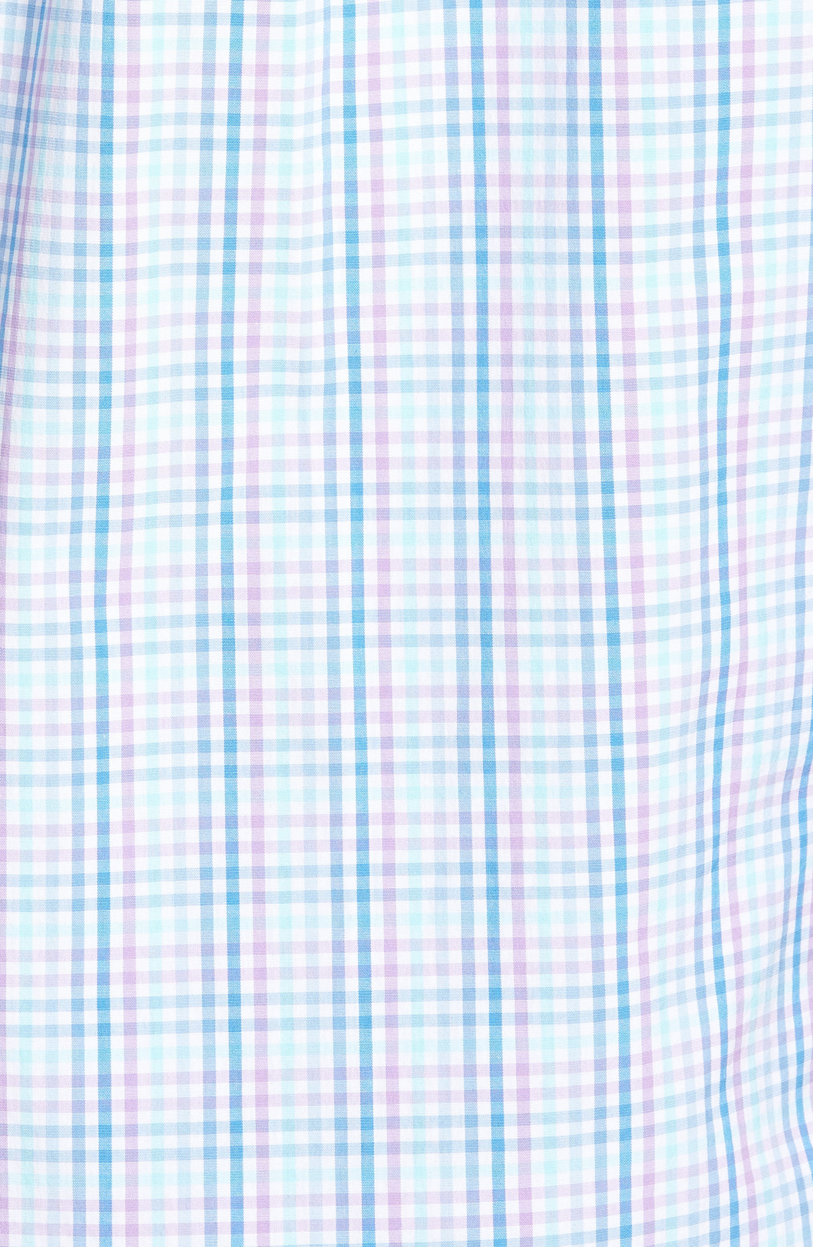 Friendly Island Classic Fit Stretch Check Sport Shirt,                             Alternate thumbnail 5, color,                             526