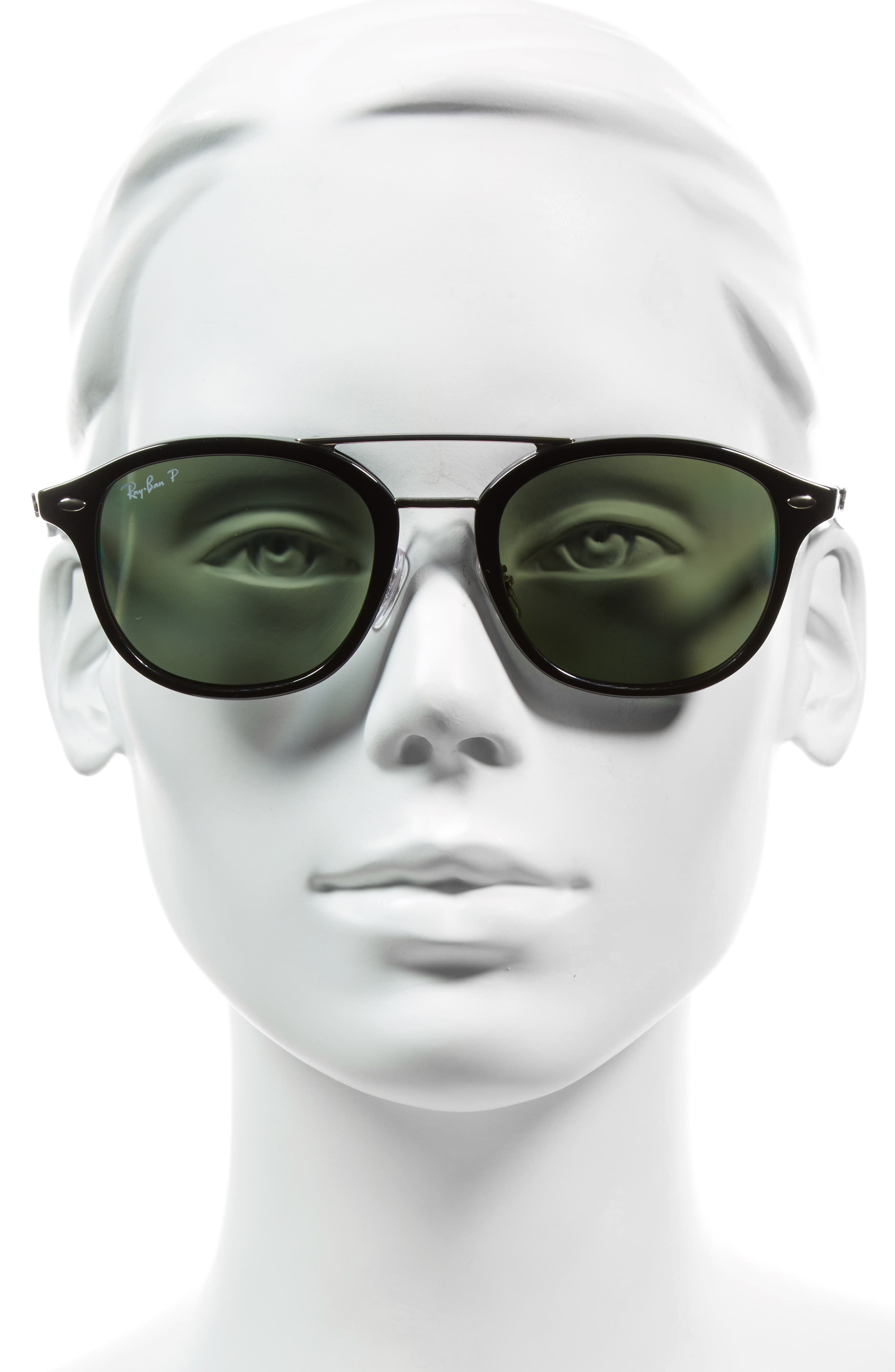 53mm Polarized Sunglasses,                             Alternate thumbnail 2, color,                             001