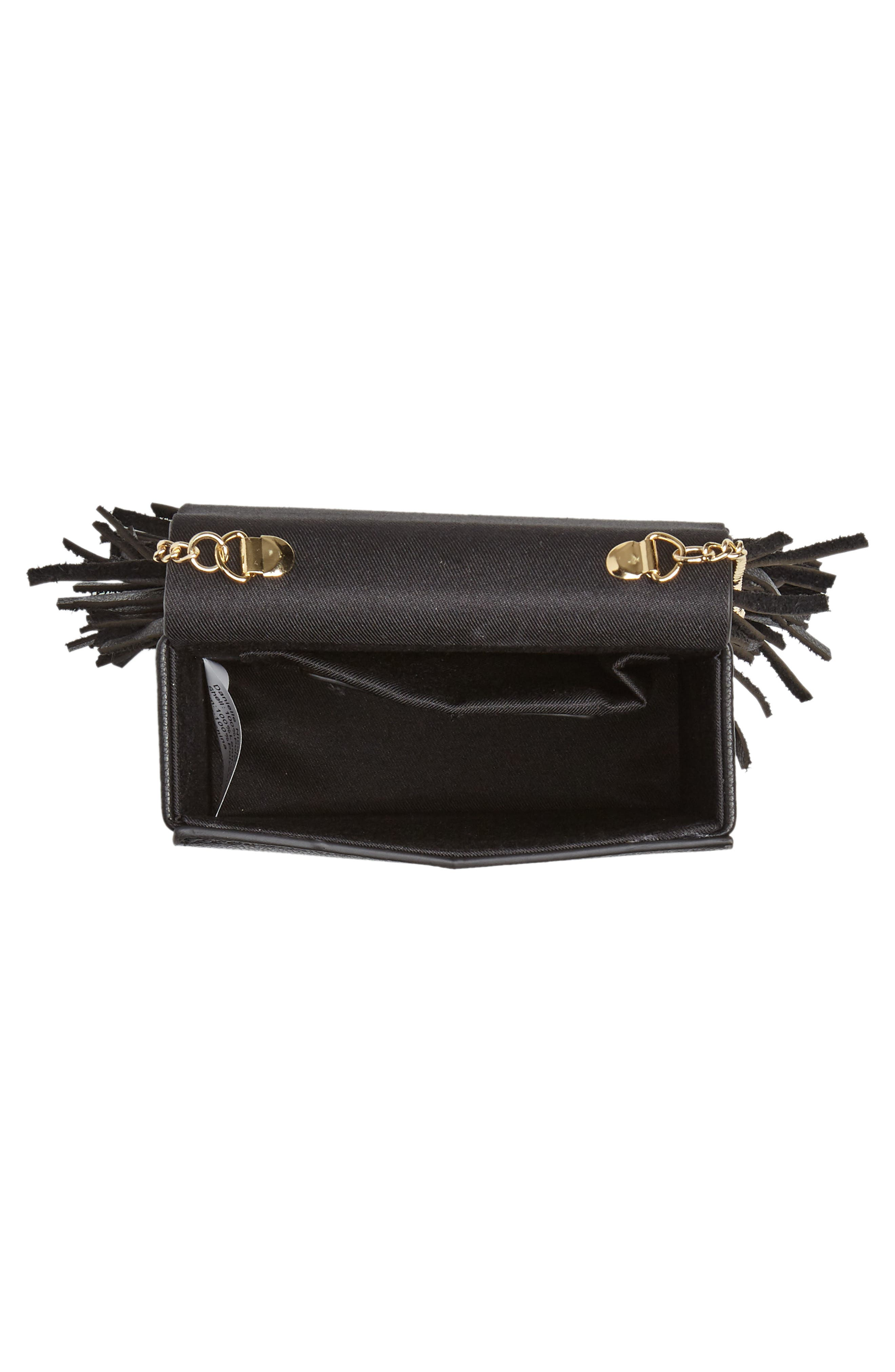 Alivia Leather Clutch,                             Alternate thumbnail 8, color,