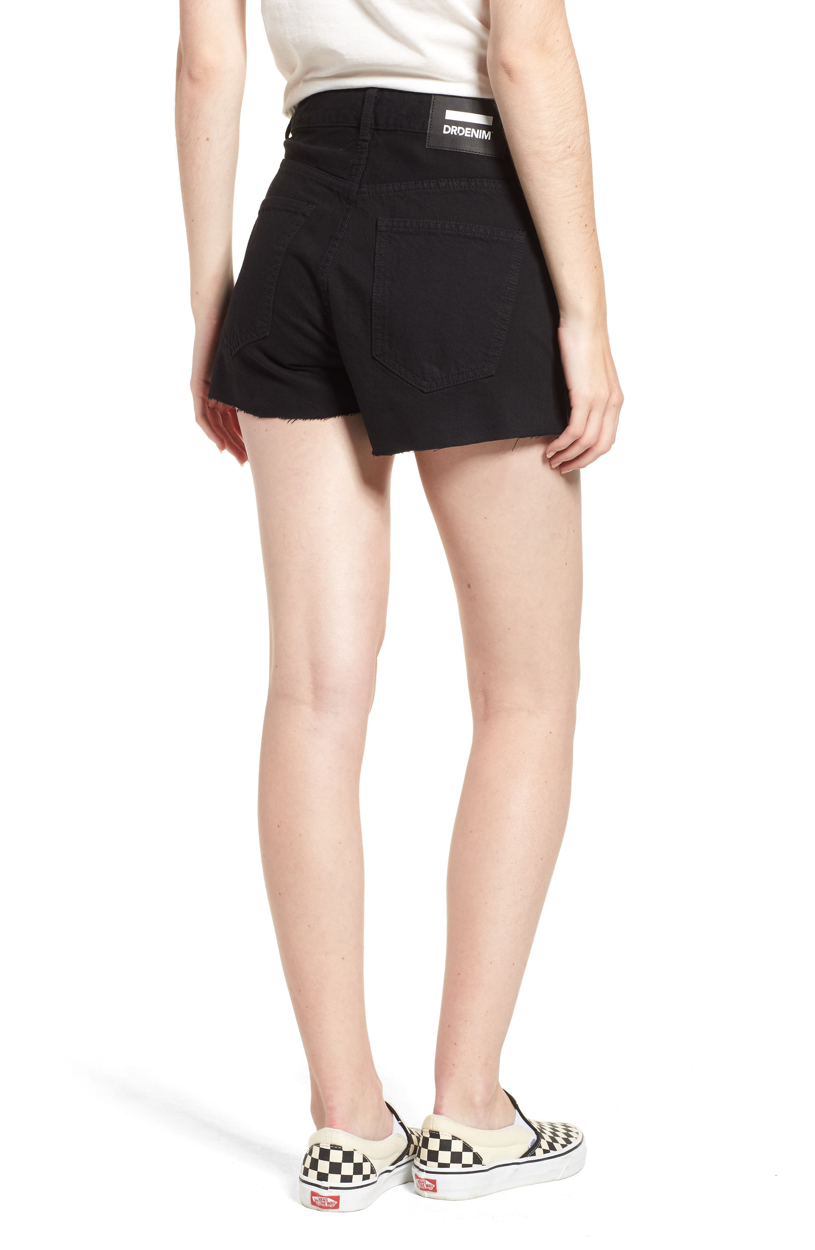 Vega Denim Shorts,                             Alternate thumbnail 2, color,                             001