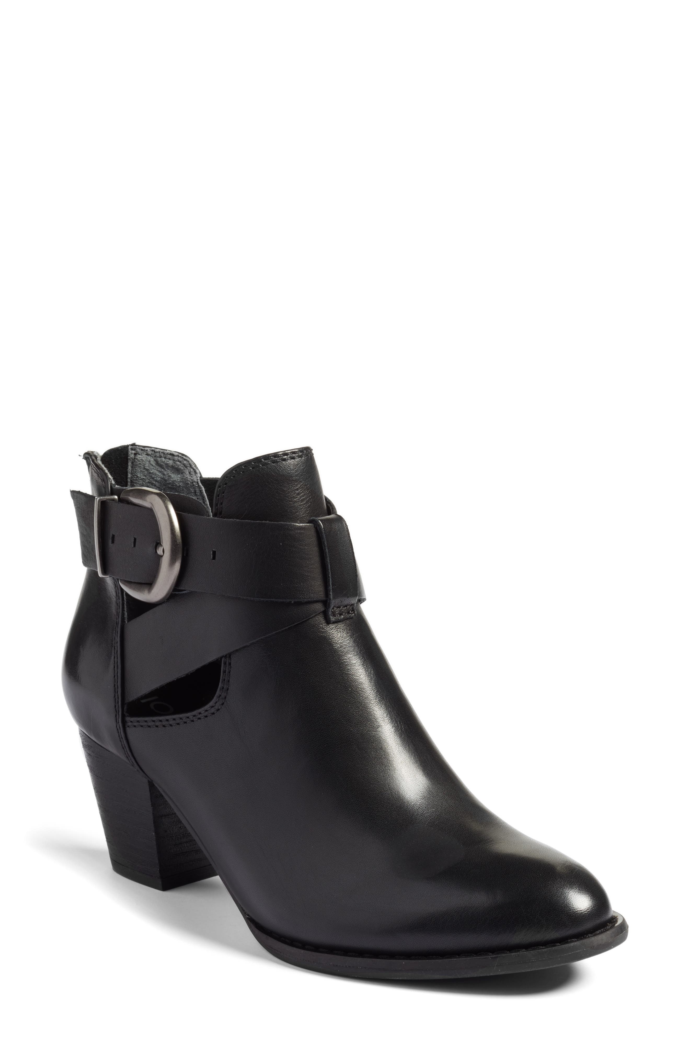 Rory Buckle Strap Bootie,                             Main thumbnail 1, color,                             001