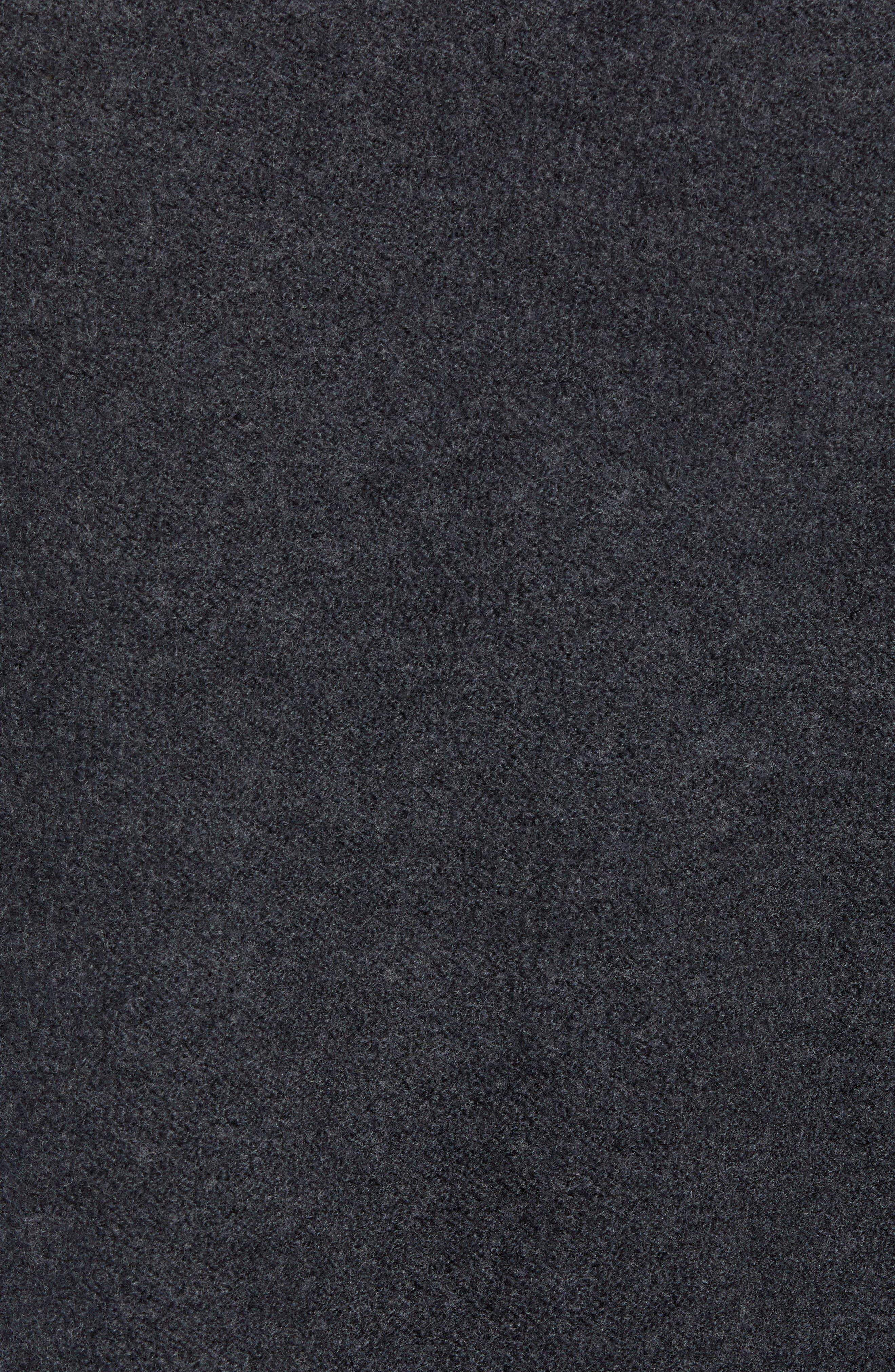 Bold Funnel Neck Wool Sweater,                             Alternate thumbnail 5, color,                             GREY MELANGE