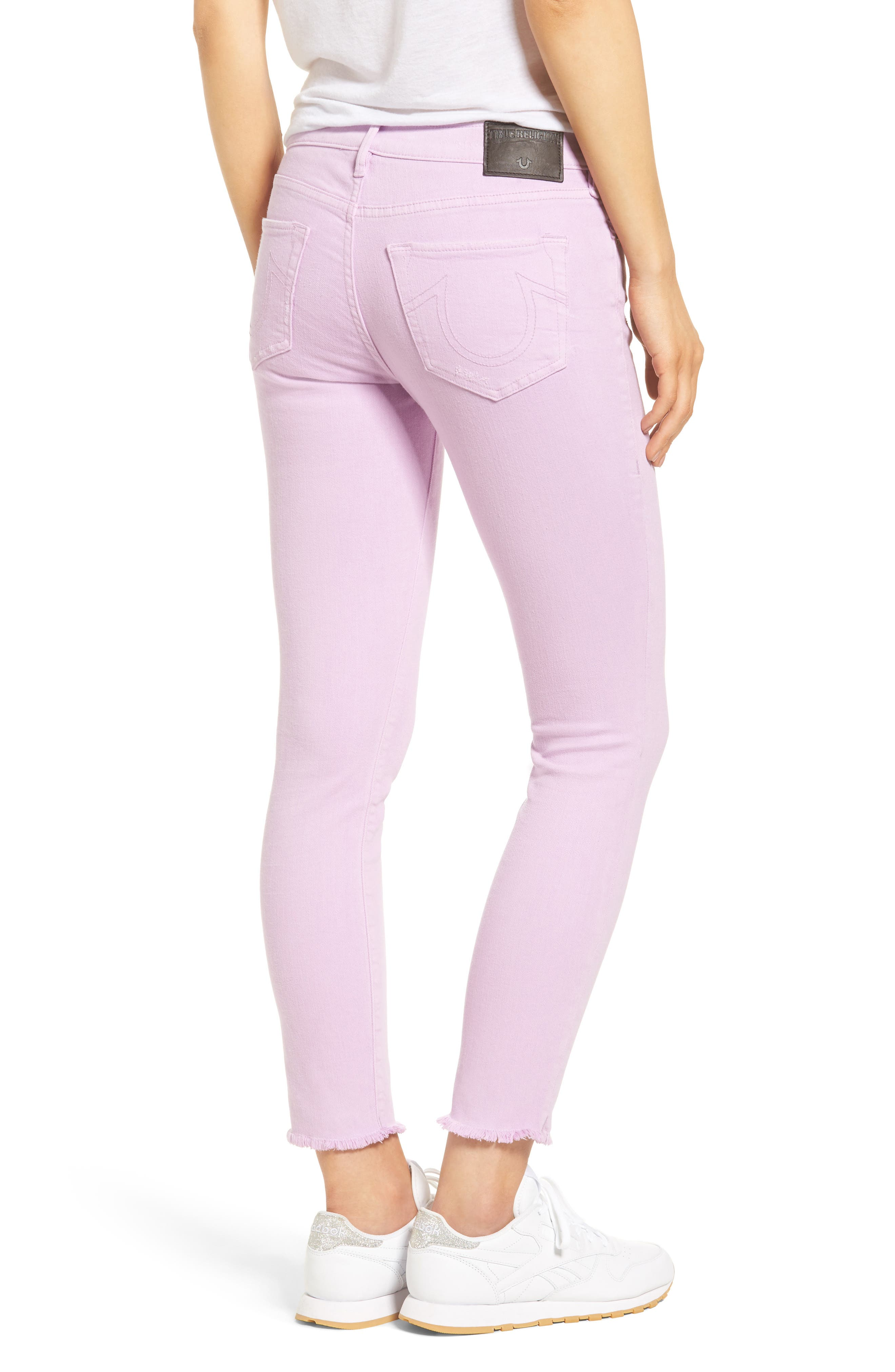Casey Crop Fray Jeans,                             Alternate thumbnail 2, color,                             545