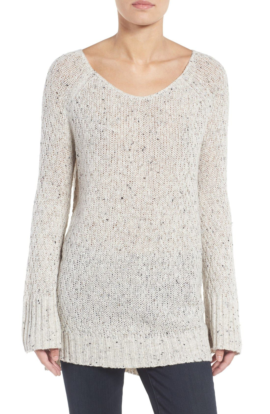 Slouchy Tunic Sweater,                             Main thumbnail 3, color,