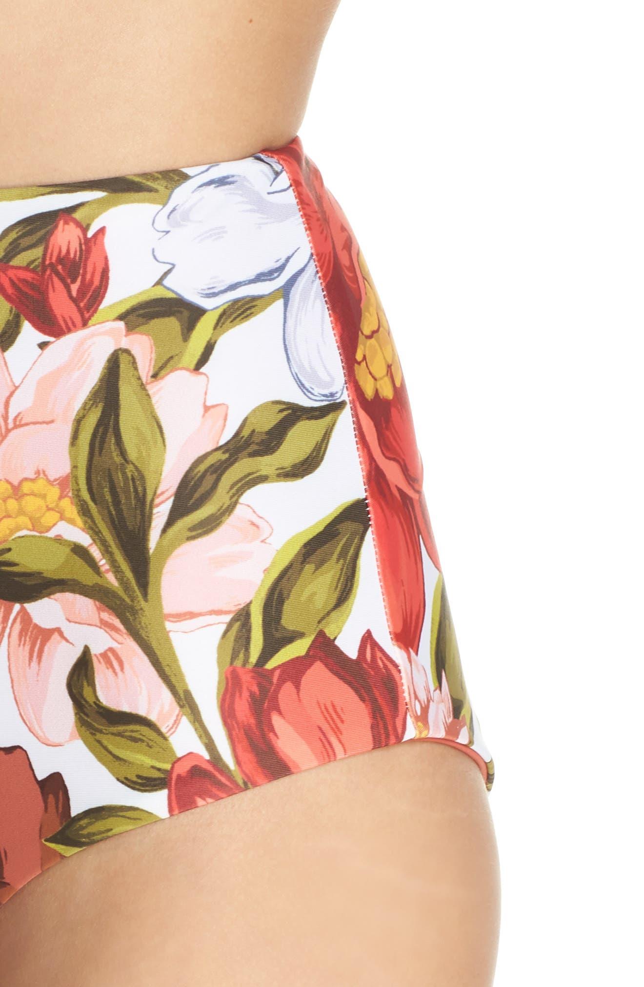 Lydia High Waist Bikini Bottoms,                             Alternate thumbnail 4, color,                             105