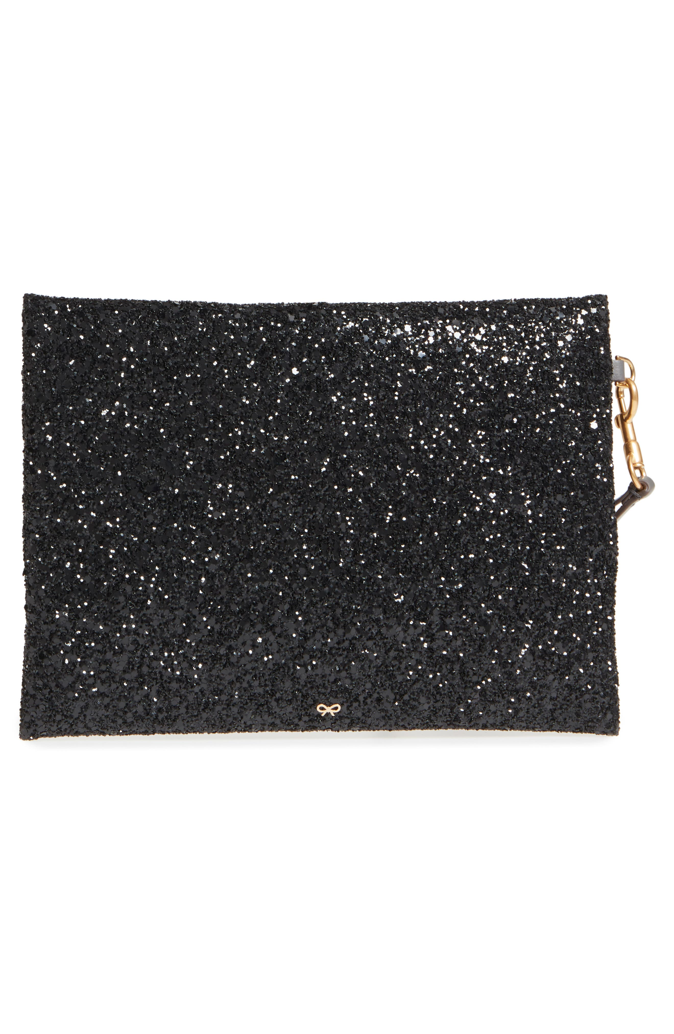 Eyes Circulus Glitter Pouch,                             Alternate thumbnail 3, color,                             001