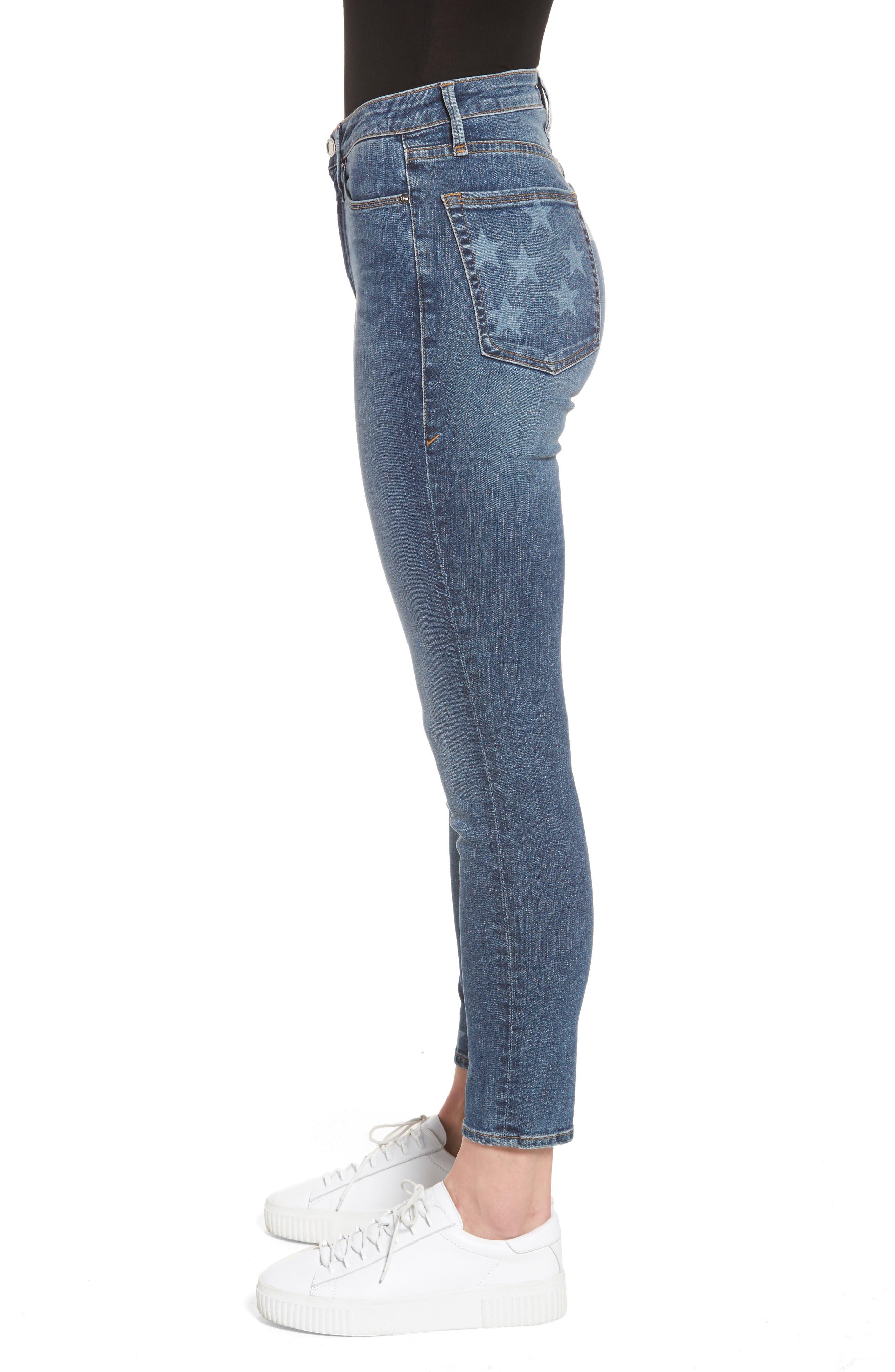Good Legs High Waist American Flag Crop Skinny Jeans,                             Alternate thumbnail 3, color,