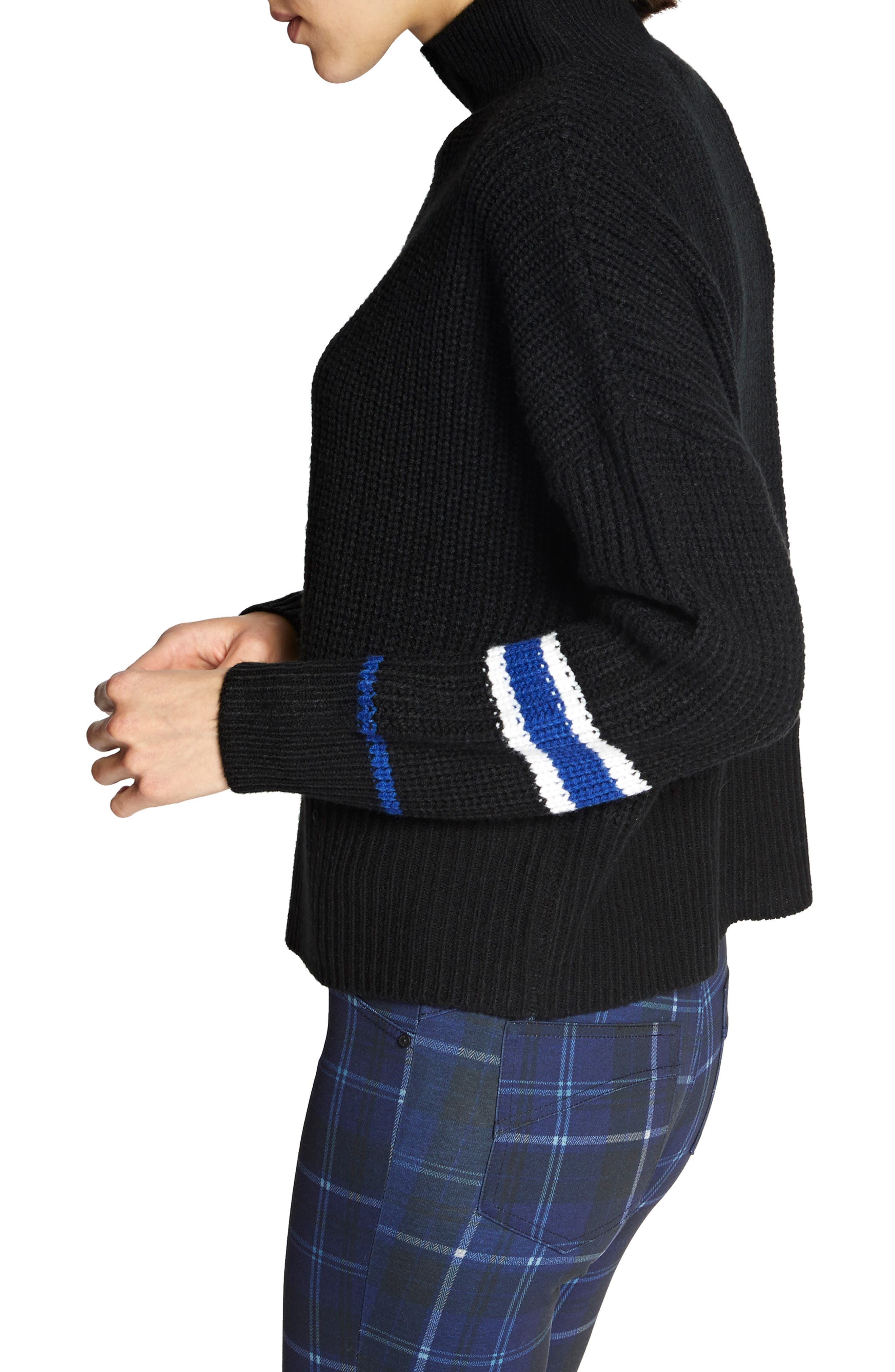 Speedway Sweater,                             Alternate thumbnail 3, color,                             BLACK