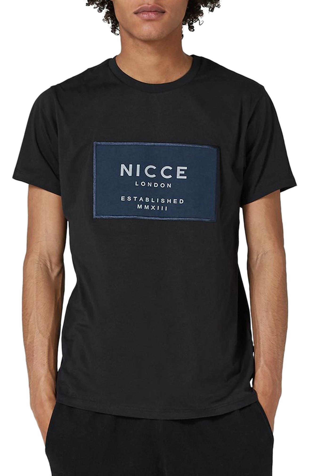 NICCE Logo Patch T-Shirt,                         Main,                         color, 001