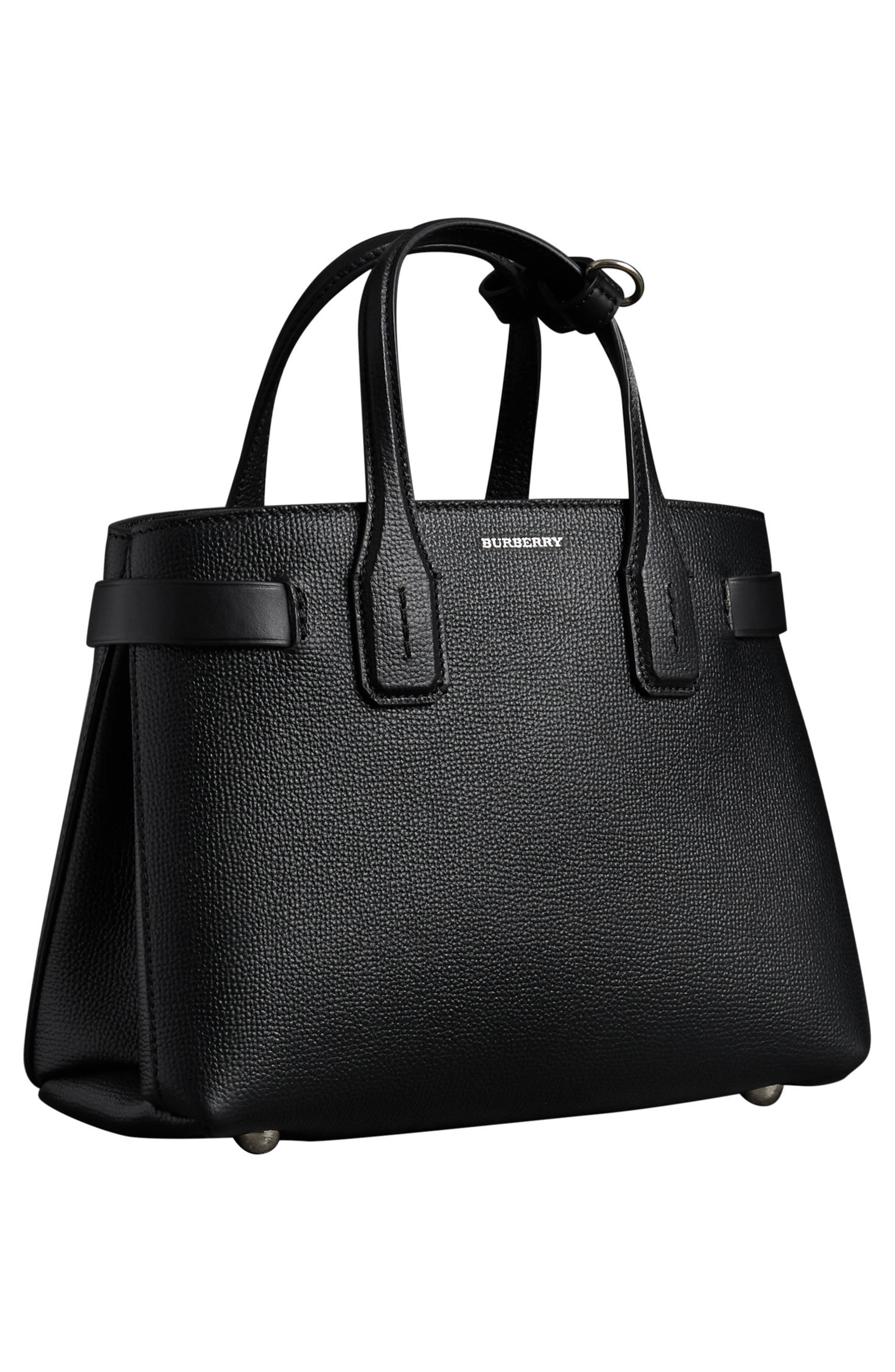 Small Banner Tote,                             Alternate thumbnail 6, color,                             BLACK