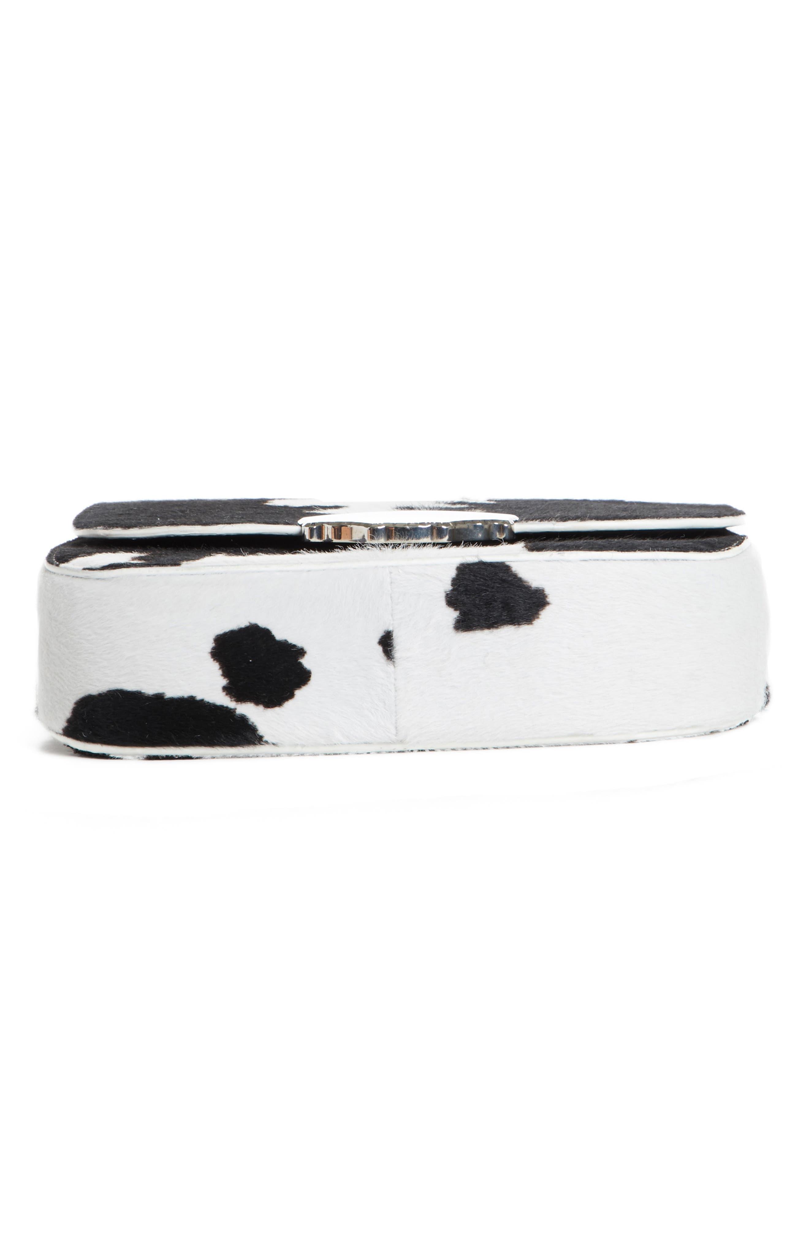 Genuine Calf Hair Shoulder Bag,                             Alternate thumbnail 6, color,
