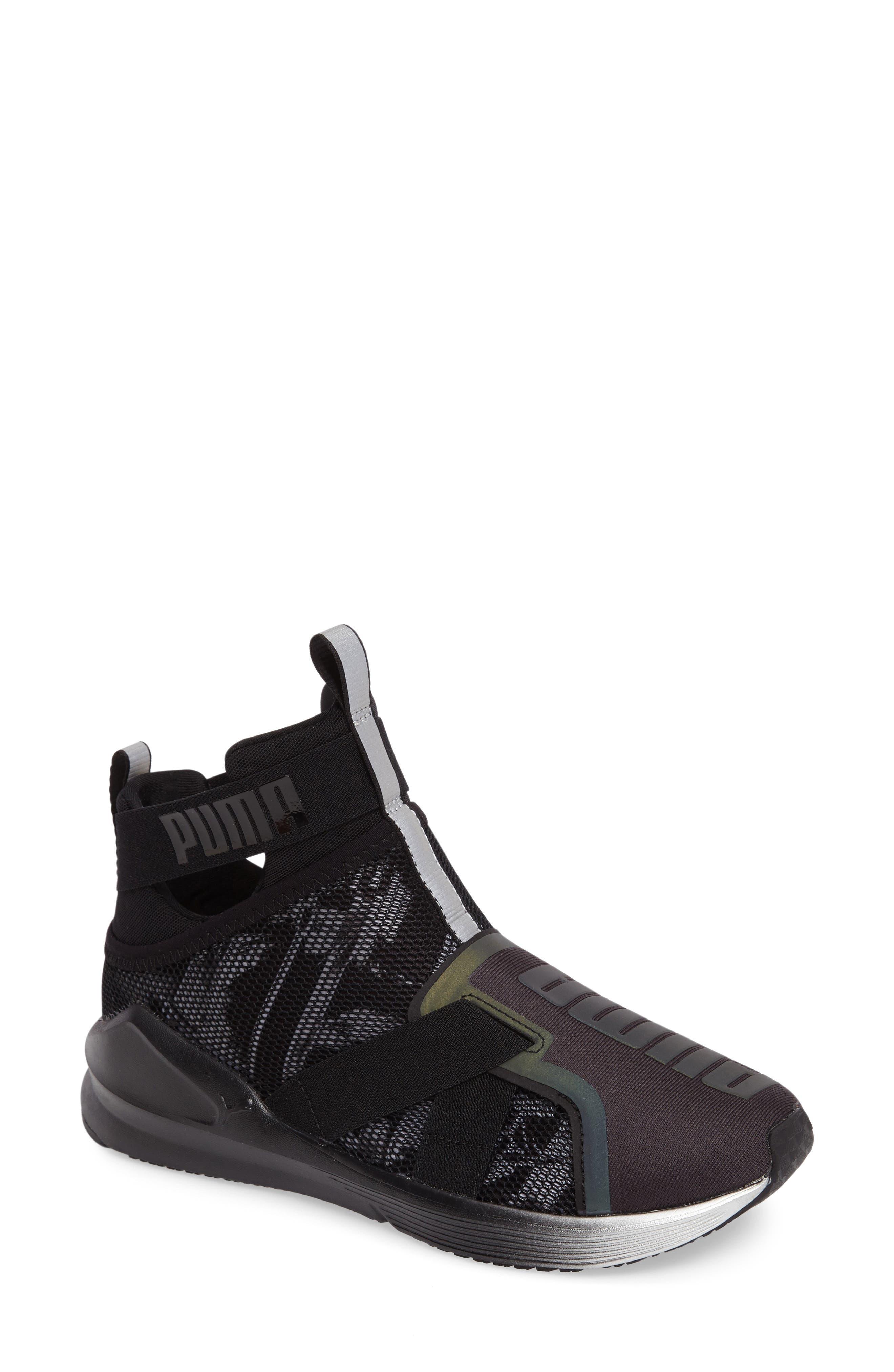 Fierce Strap Swan Training Sneaker,                         Main,                         color, 001