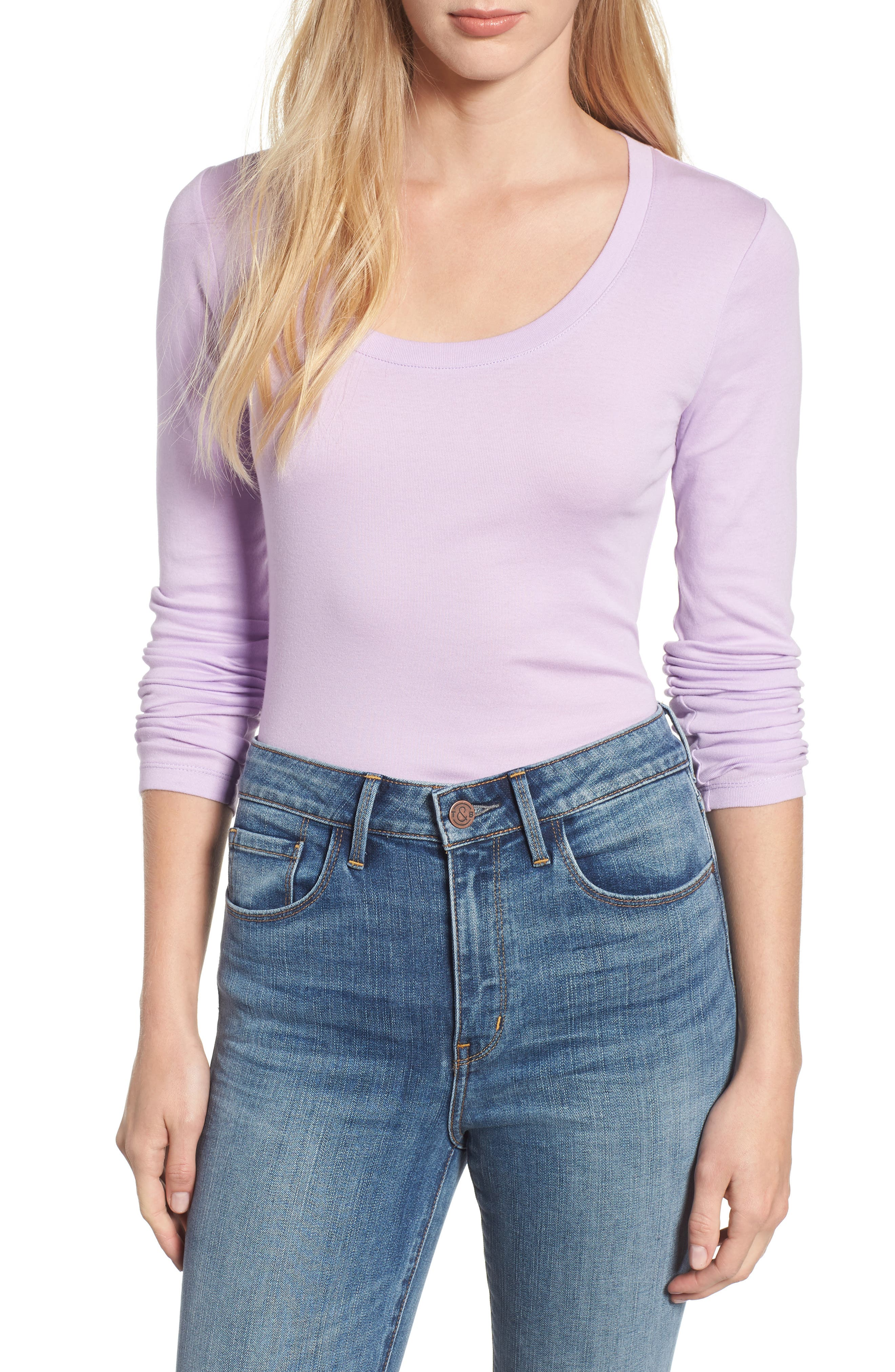 'Melody' Long Sleeve Scoop Neck Tee,                         Main,                         color, 530