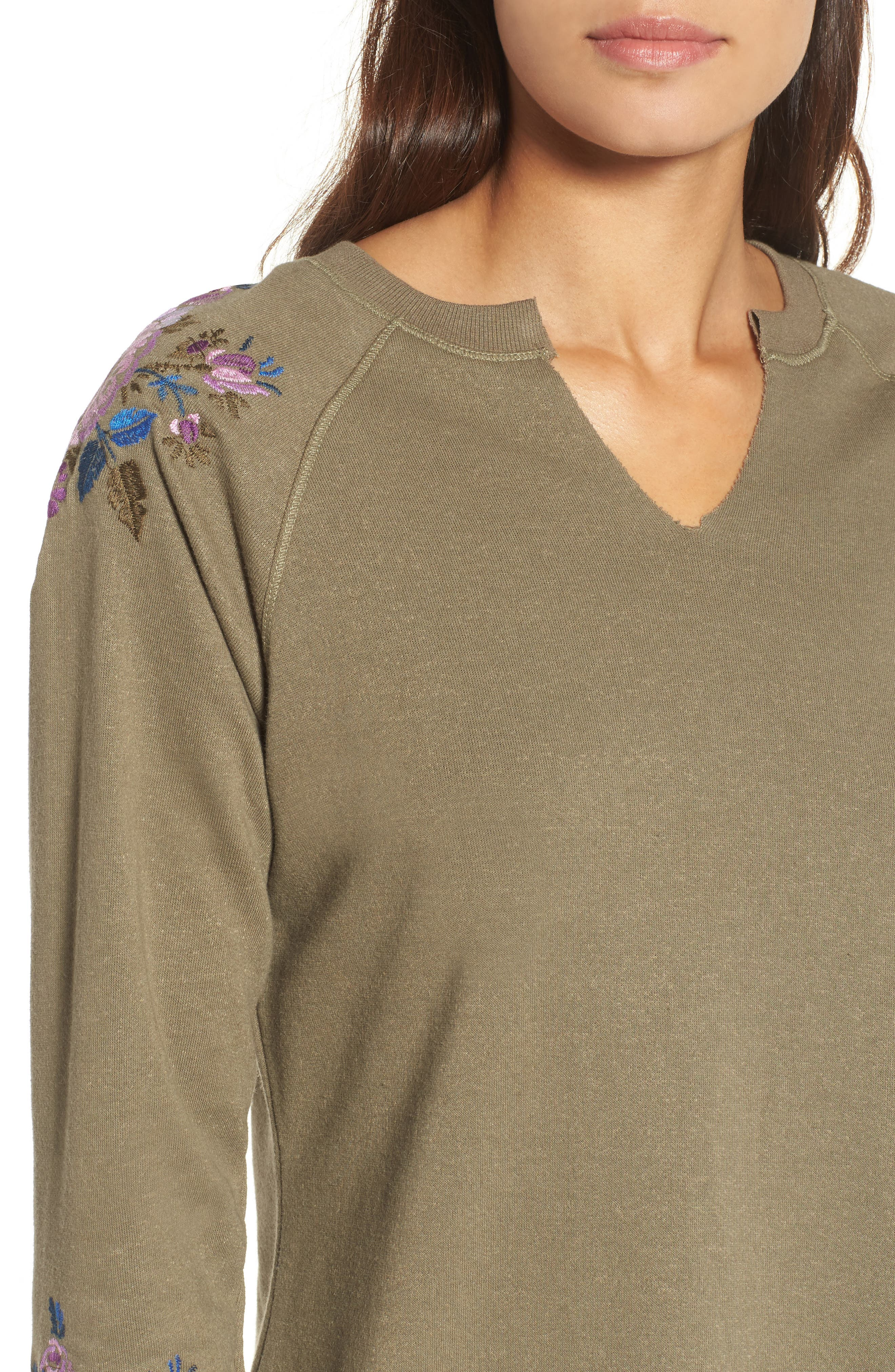 Embroidered Sweater,                             Alternate thumbnail 4, color,                             345