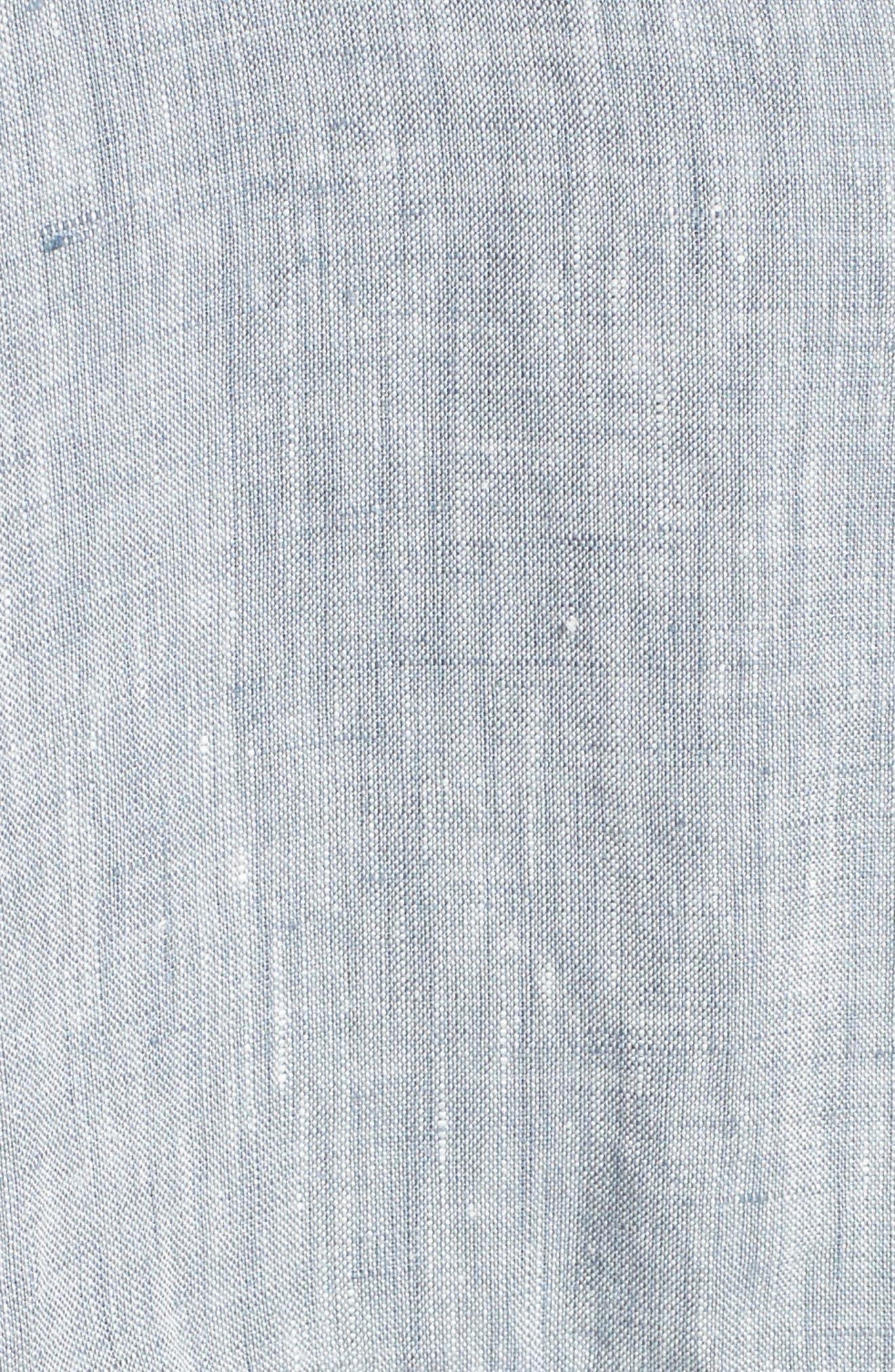 Long Organic Linen Jacket,                             Alternate thumbnail 5, color,                             416