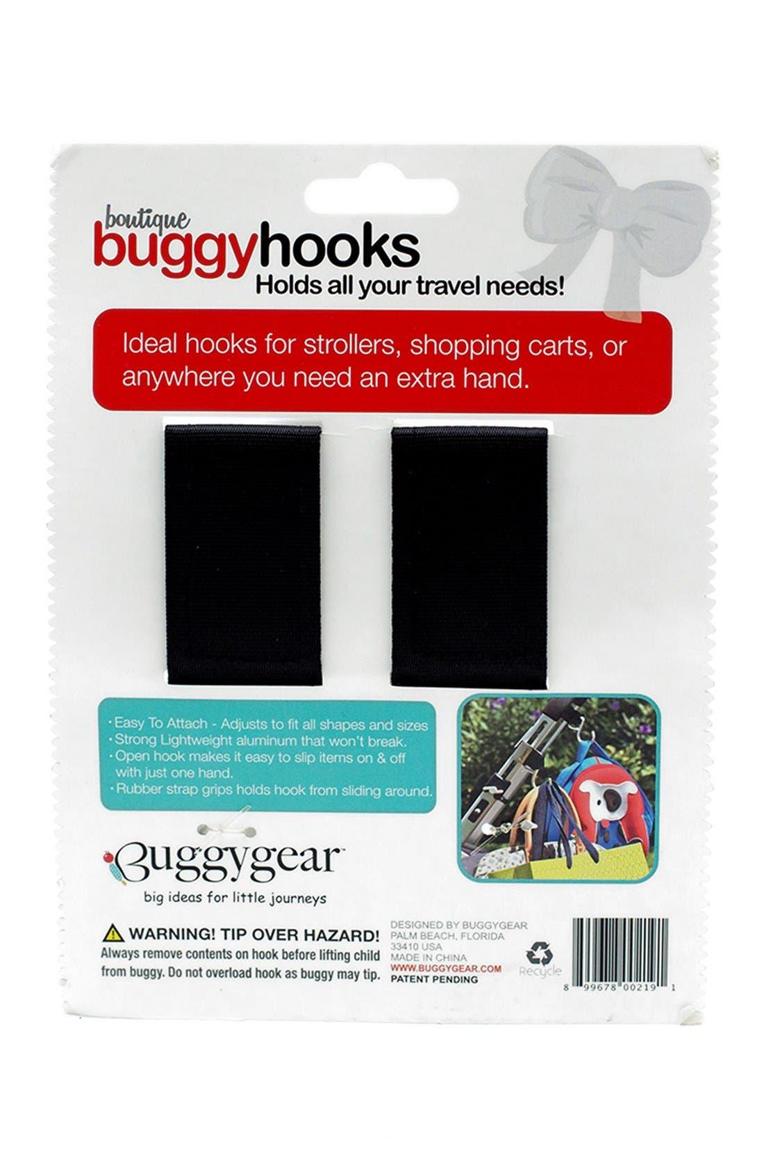 Buggygear 'Boutique' Stroller Hooks,                             Alternate thumbnail 4, color,                             BLACK