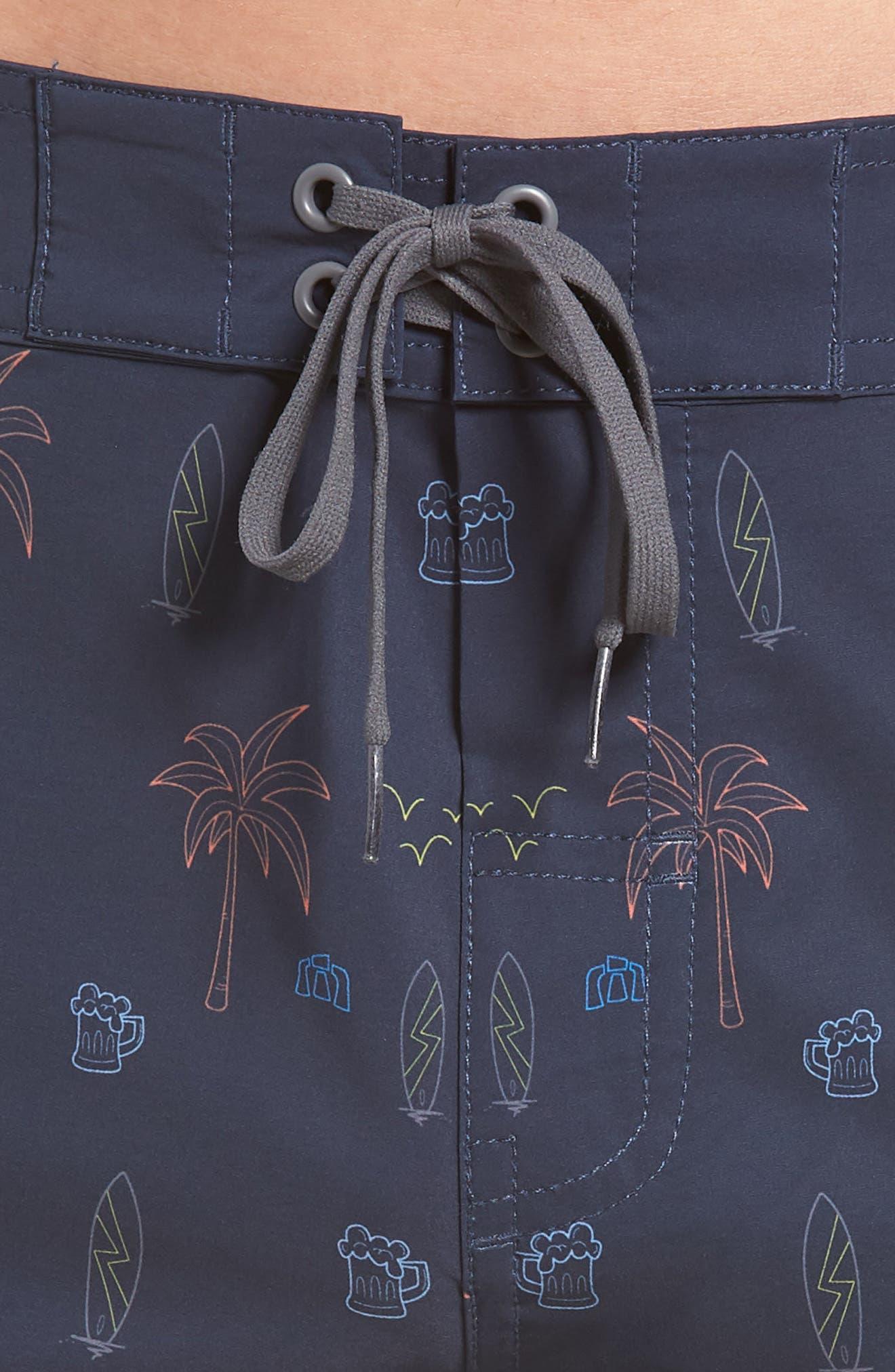 Safari Regular Fit Board Shorts,                             Alternate thumbnail 4, color,                             400