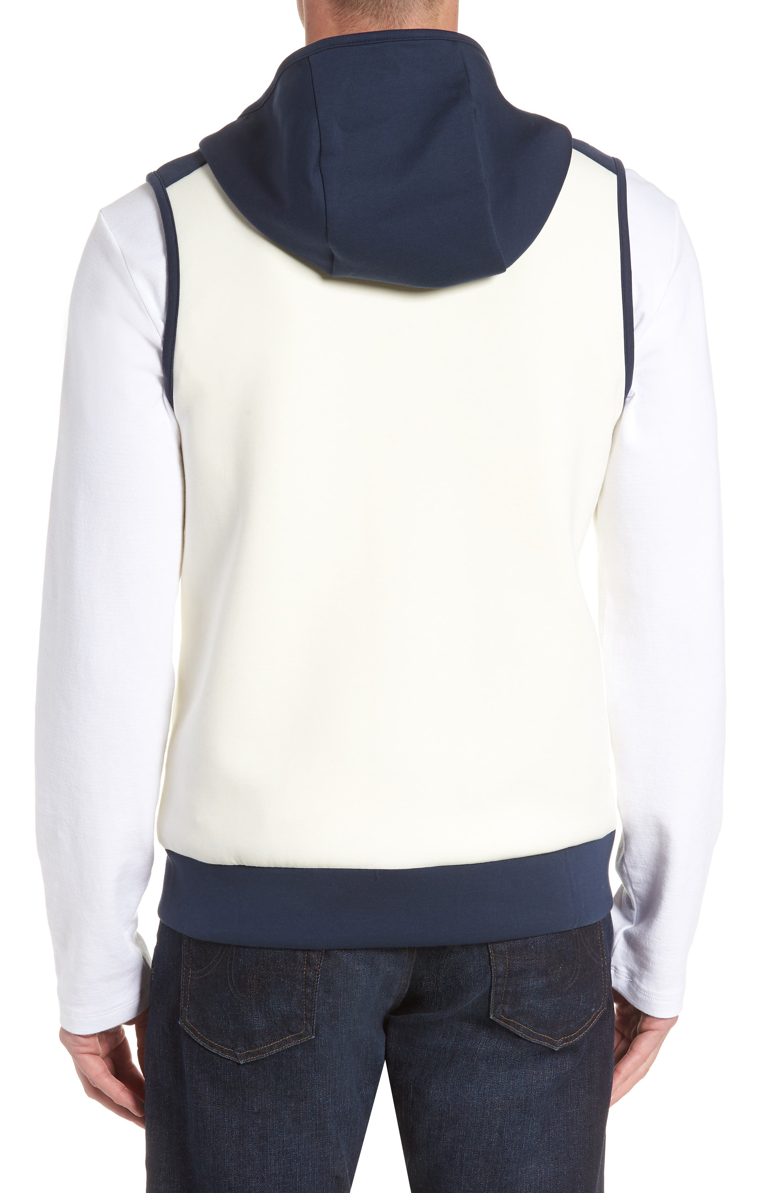 Unstoppable Knit Vest,                             Alternate thumbnail 2, color,                             WHITE / SUMMER NIGHT / BLACK