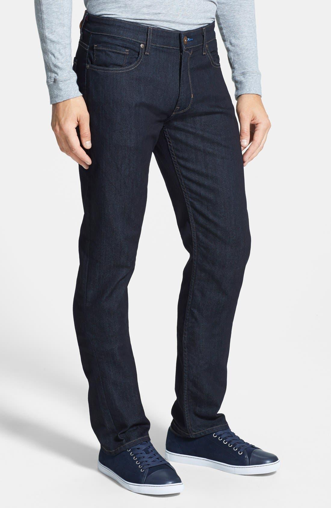 'Normandie' Straight Leg Jeans,                             Alternate thumbnail 4, color,                             400