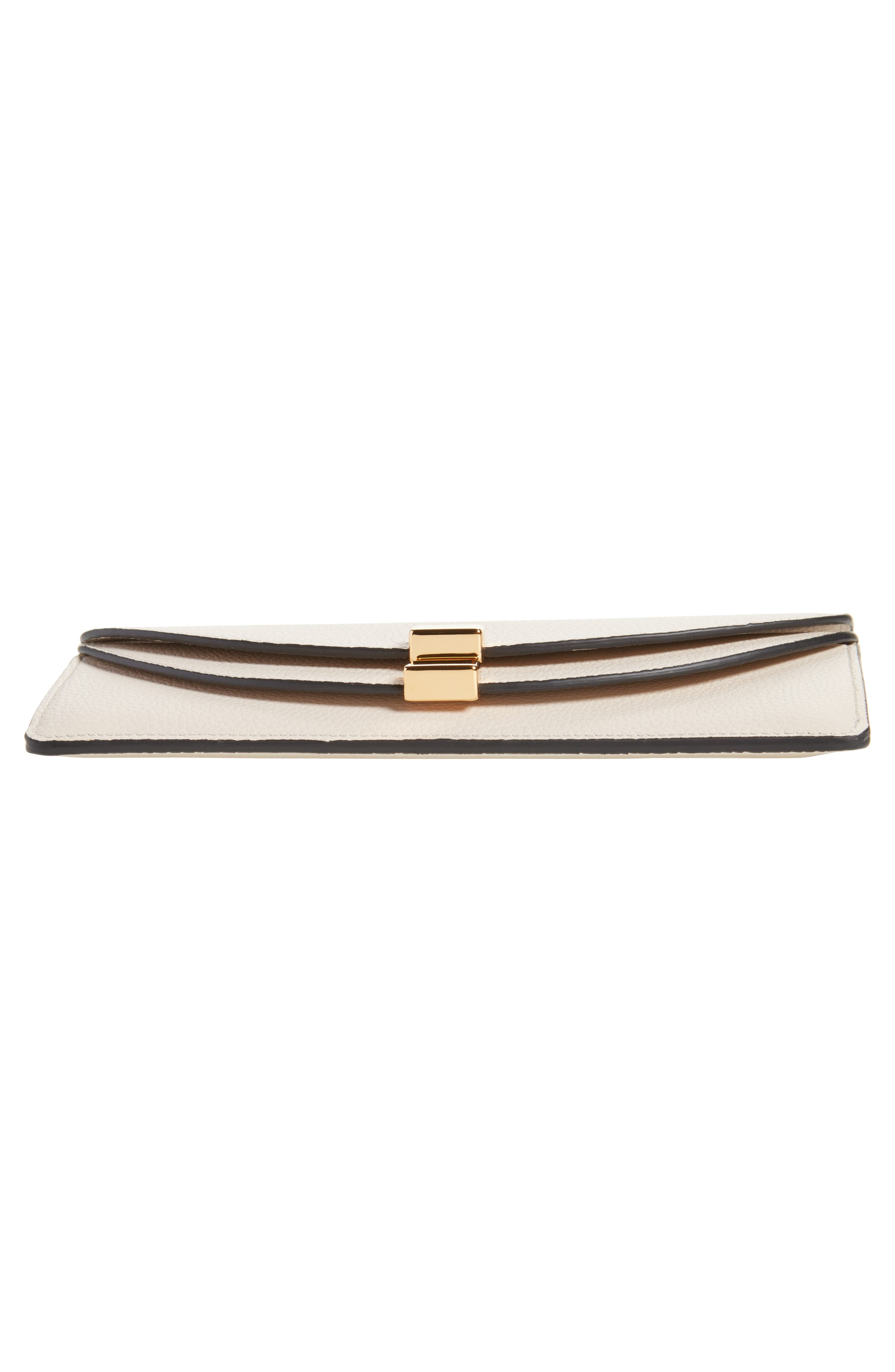 Georgia Continental Leather Wallet,                             Alternate thumbnail 6, color,                             ABSTRACT WHITE