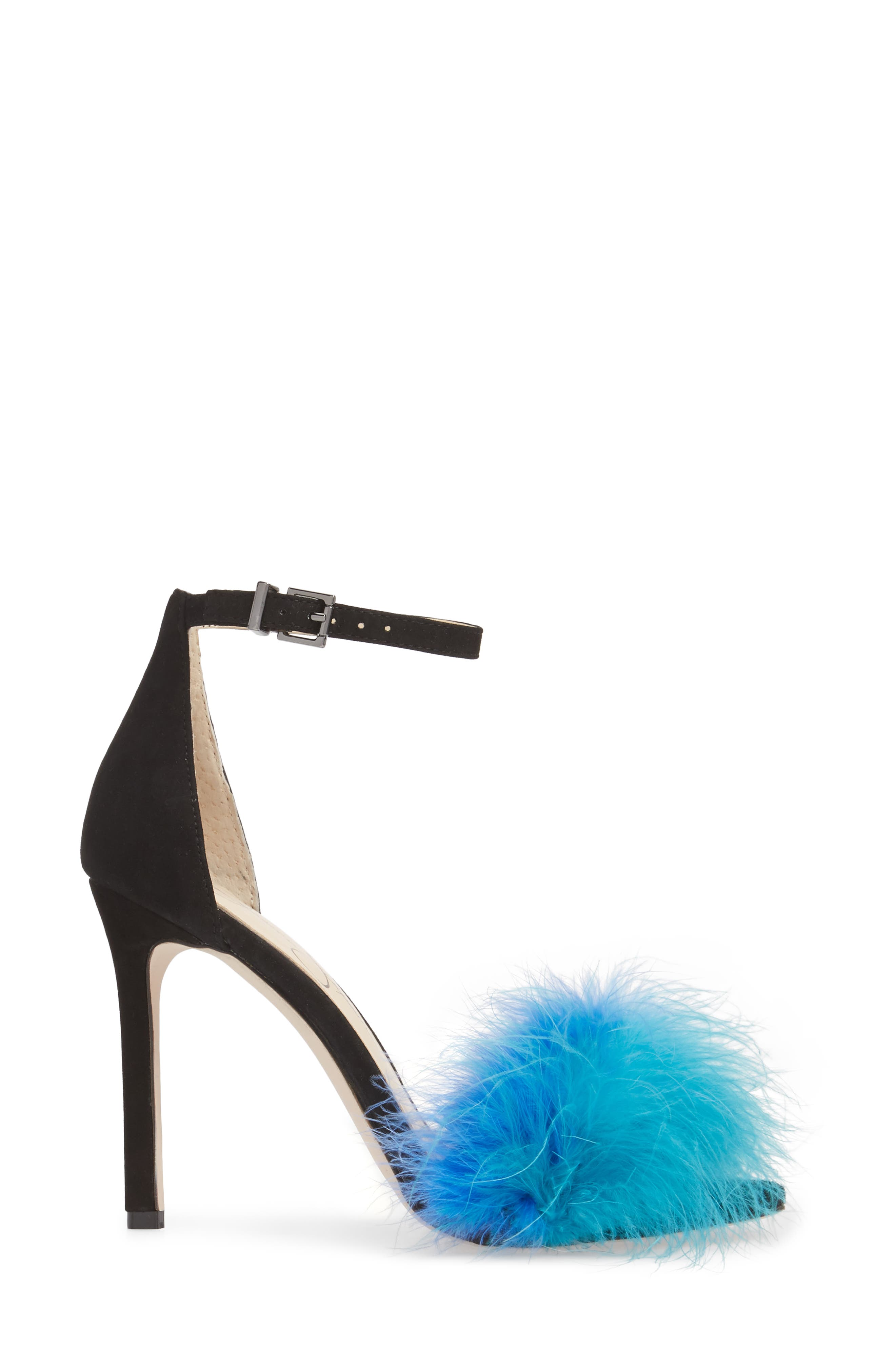 Jesaphine Feathered Sandal,                             Alternate thumbnail 3, color,                             460