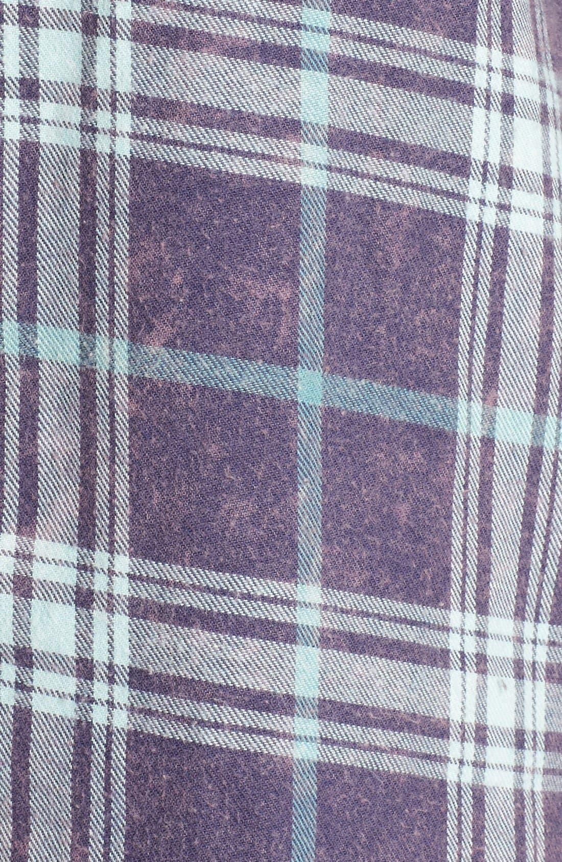 Plaid Cotton Blend Nightshirt,                             Alternate thumbnail 47, color,