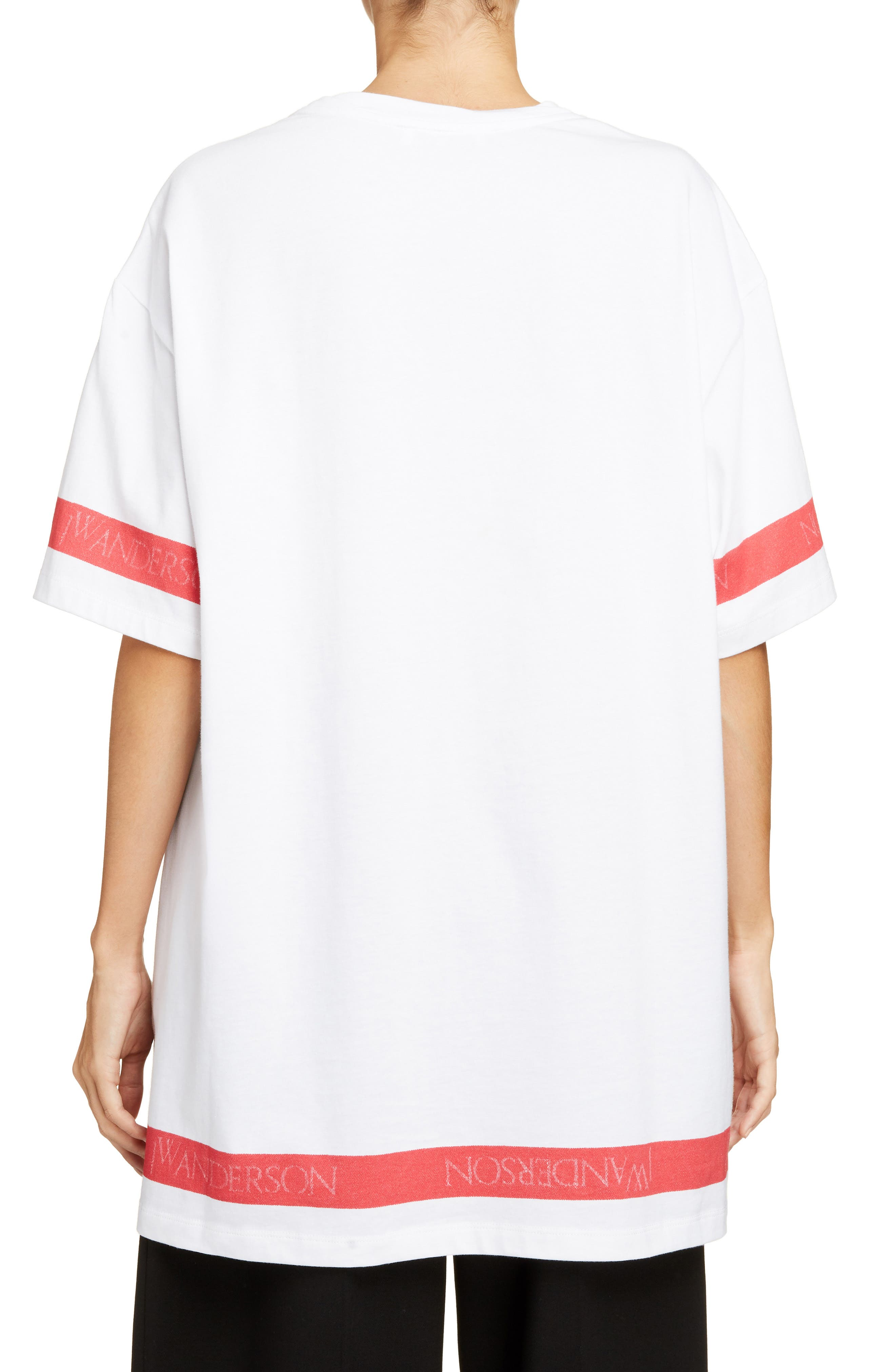 Palm Lady Oversized Tee,                             Alternate thumbnail 2, color,                             100
