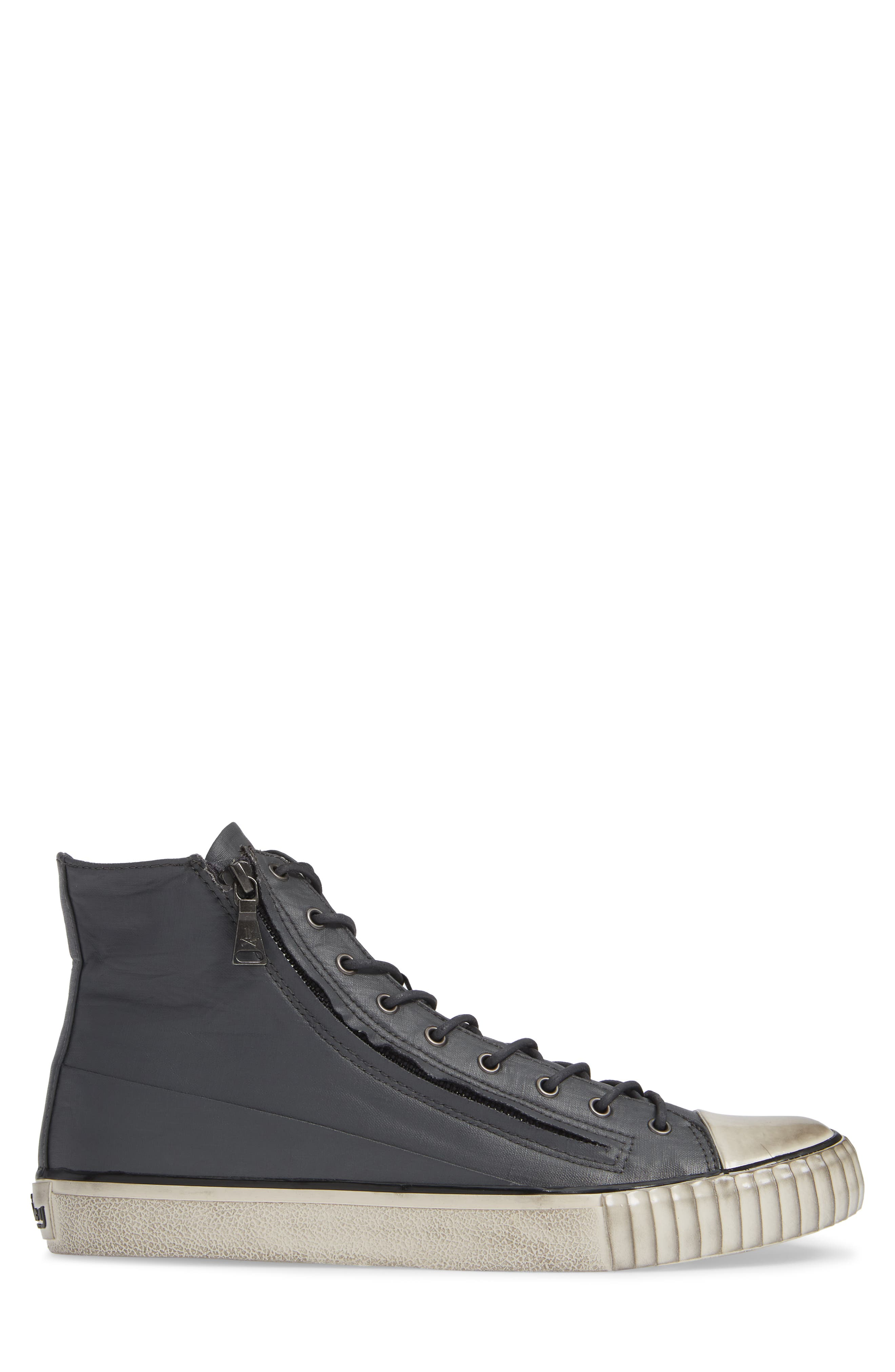John Varvatos Star USA Bootleg Sneaker,                             Alternate thumbnail 3, color,                             GREY COATED LINEN
