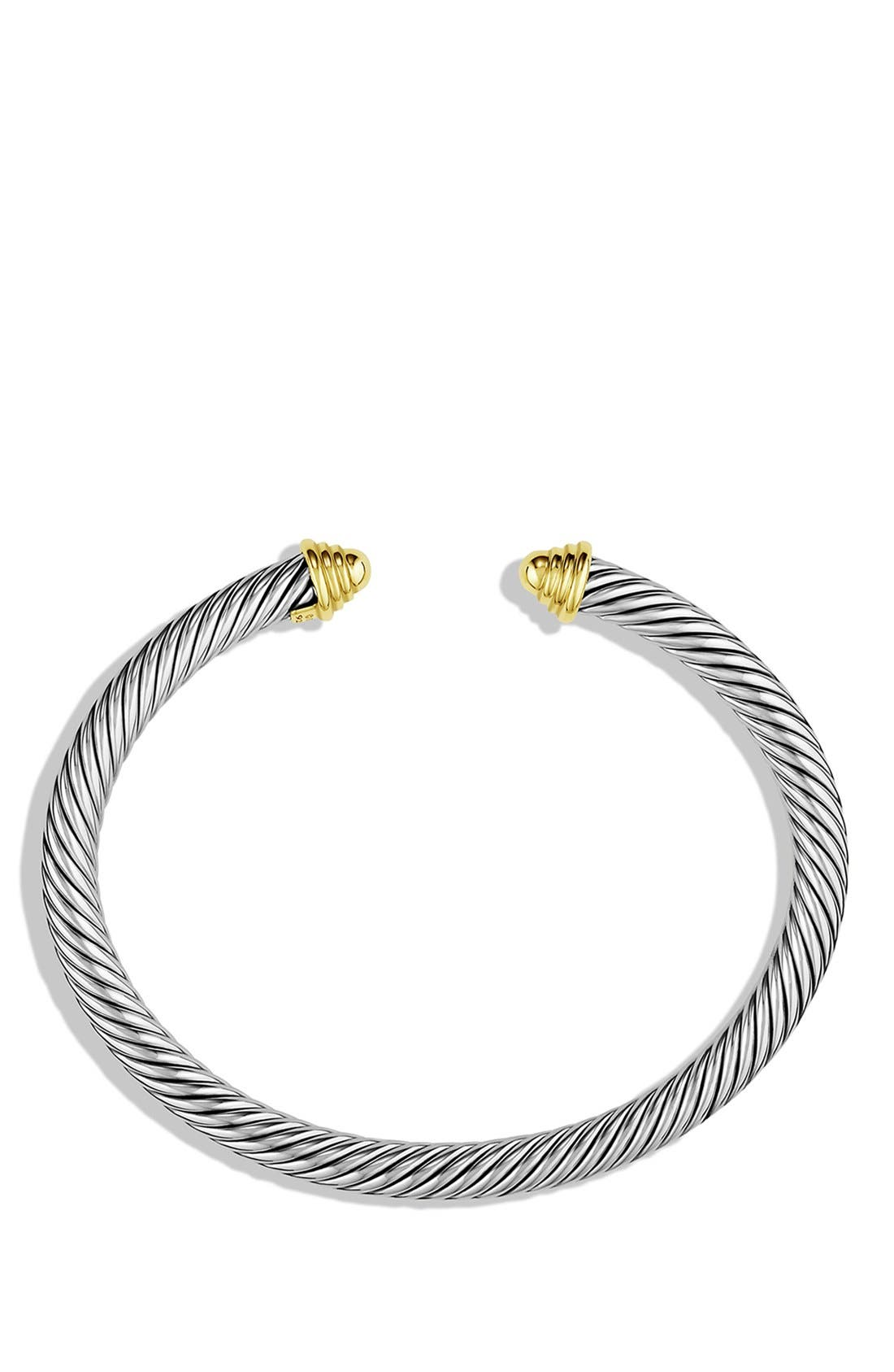 Cable Classics Bracelet with 14K Gold, 5mm,                             Alternate thumbnail 2, color,                             TWO TONE