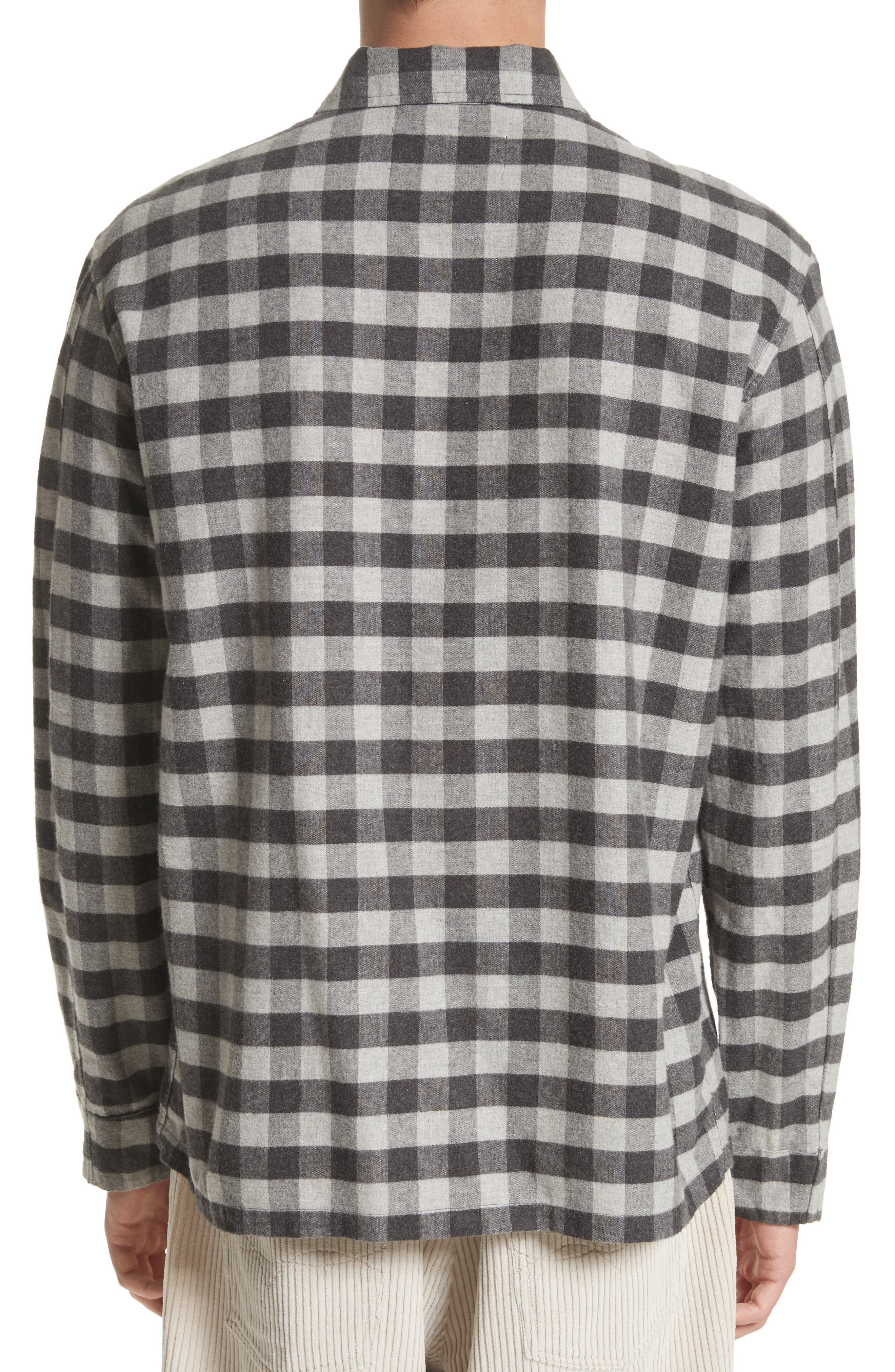 Buffalo Check Flannel Sport Shirt,                             Alternate thumbnail 2, color,                             001