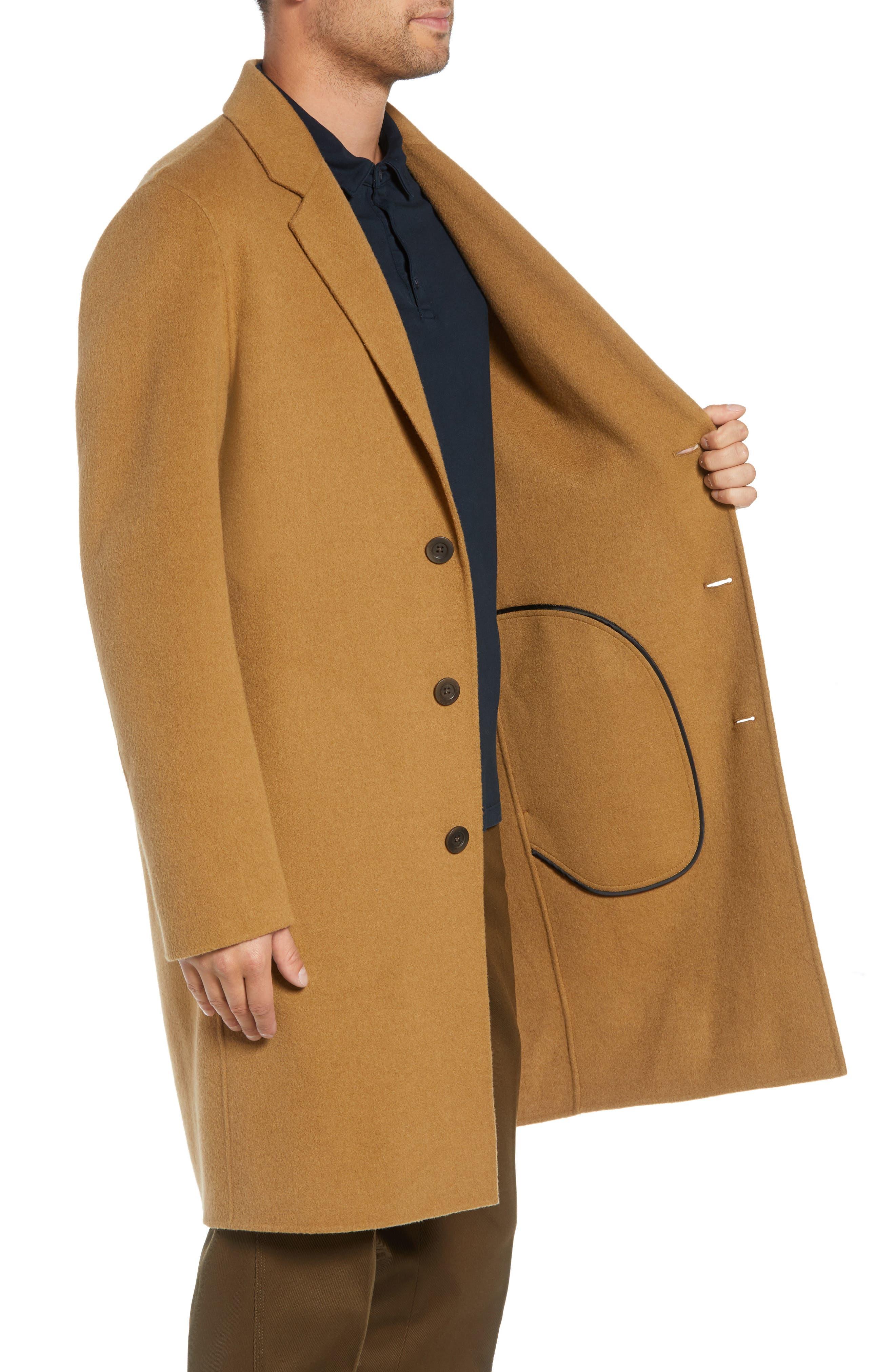 Wool Blend Car Coat,                             Alternate thumbnail 3, color,                             263