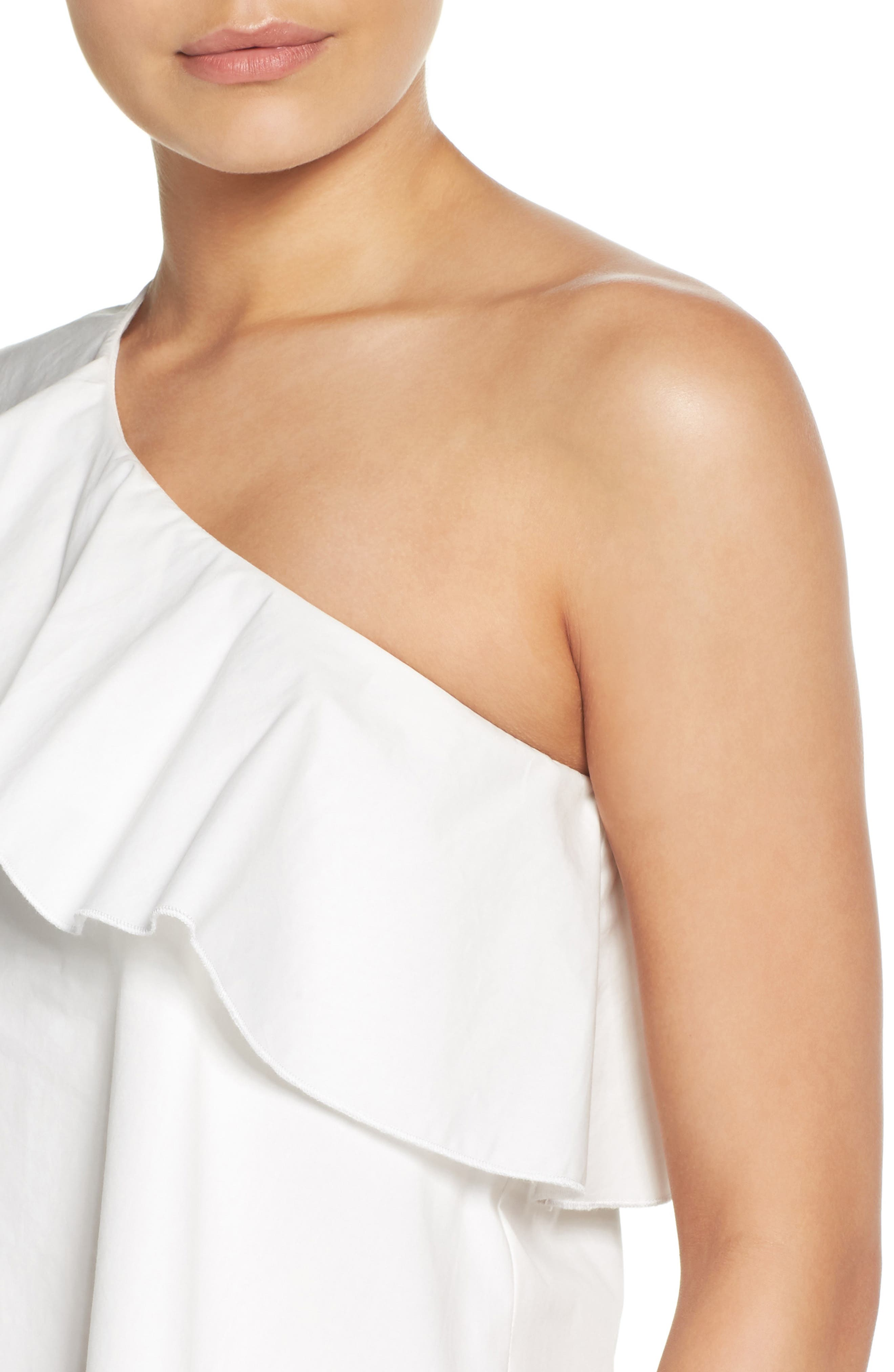 One-Shoulder Ruffle Dress,                             Alternate thumbnail 11, color,