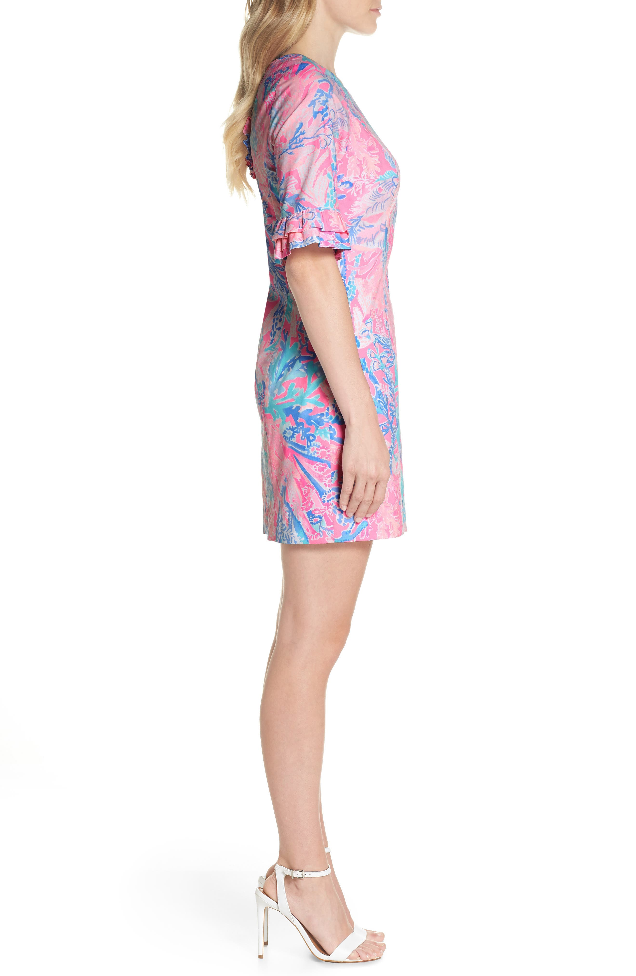 LILLY PULITZER<SUP>®</SUP>,                             Fiesta Stretch Sheath Dress,                             Alternate thumbnail 3, color,                             686