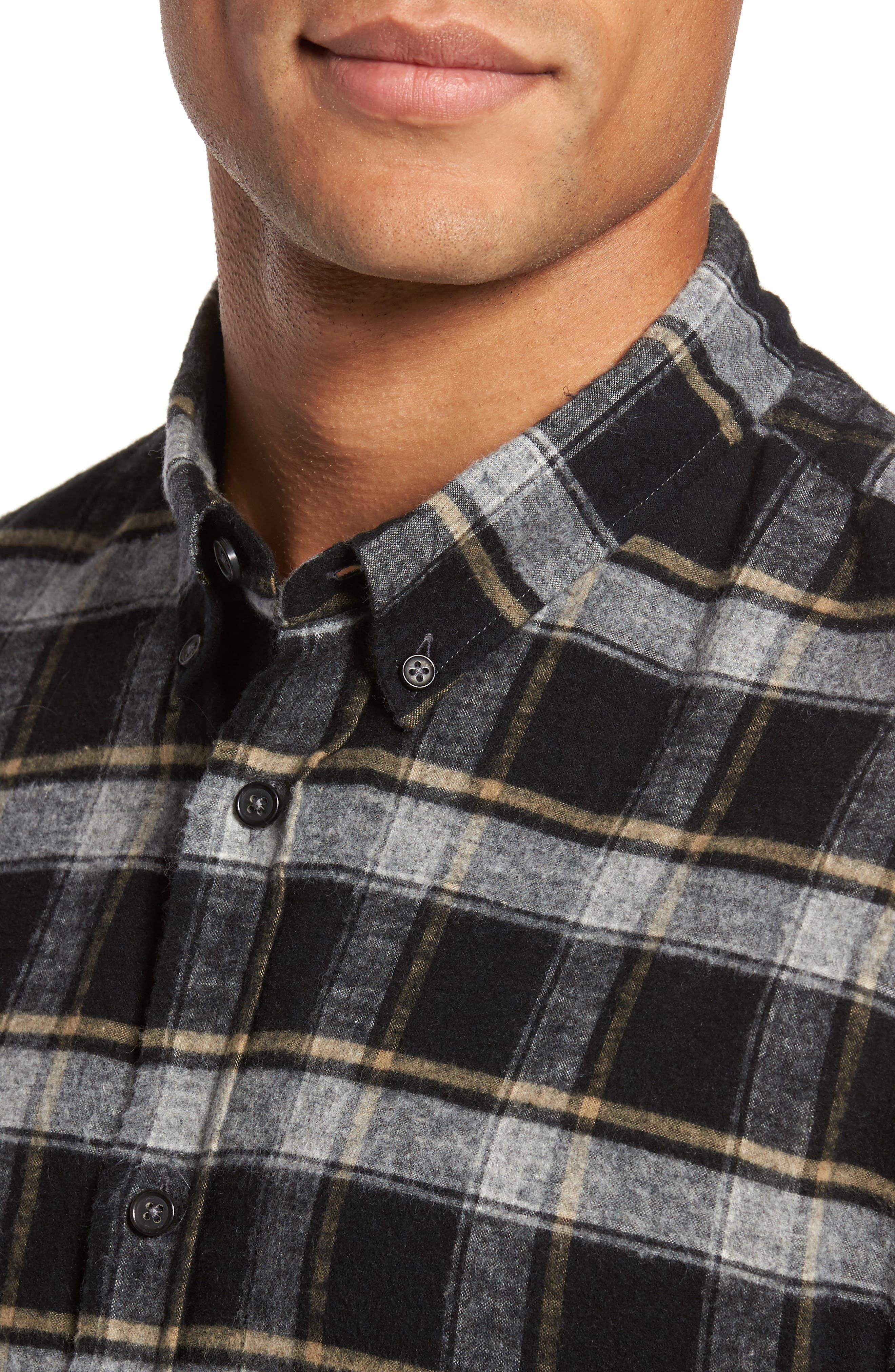 Murphy Slim Fit Check Sport Shirt,                             Alternate thumbnail 4, color,                             011