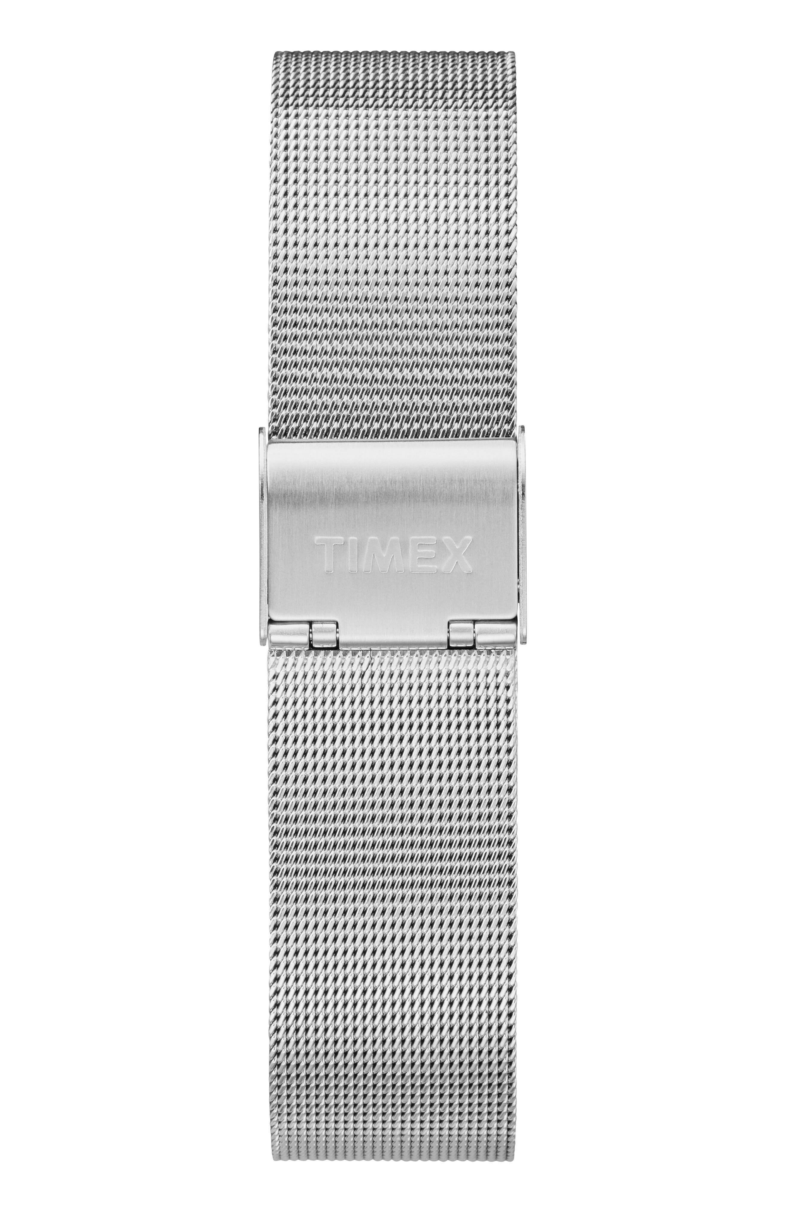 Fairfield Mesh Strap Watch, 37mm,                             Alternate thumbnail 2, color,                             SILVER/ WHITE/ SILVER