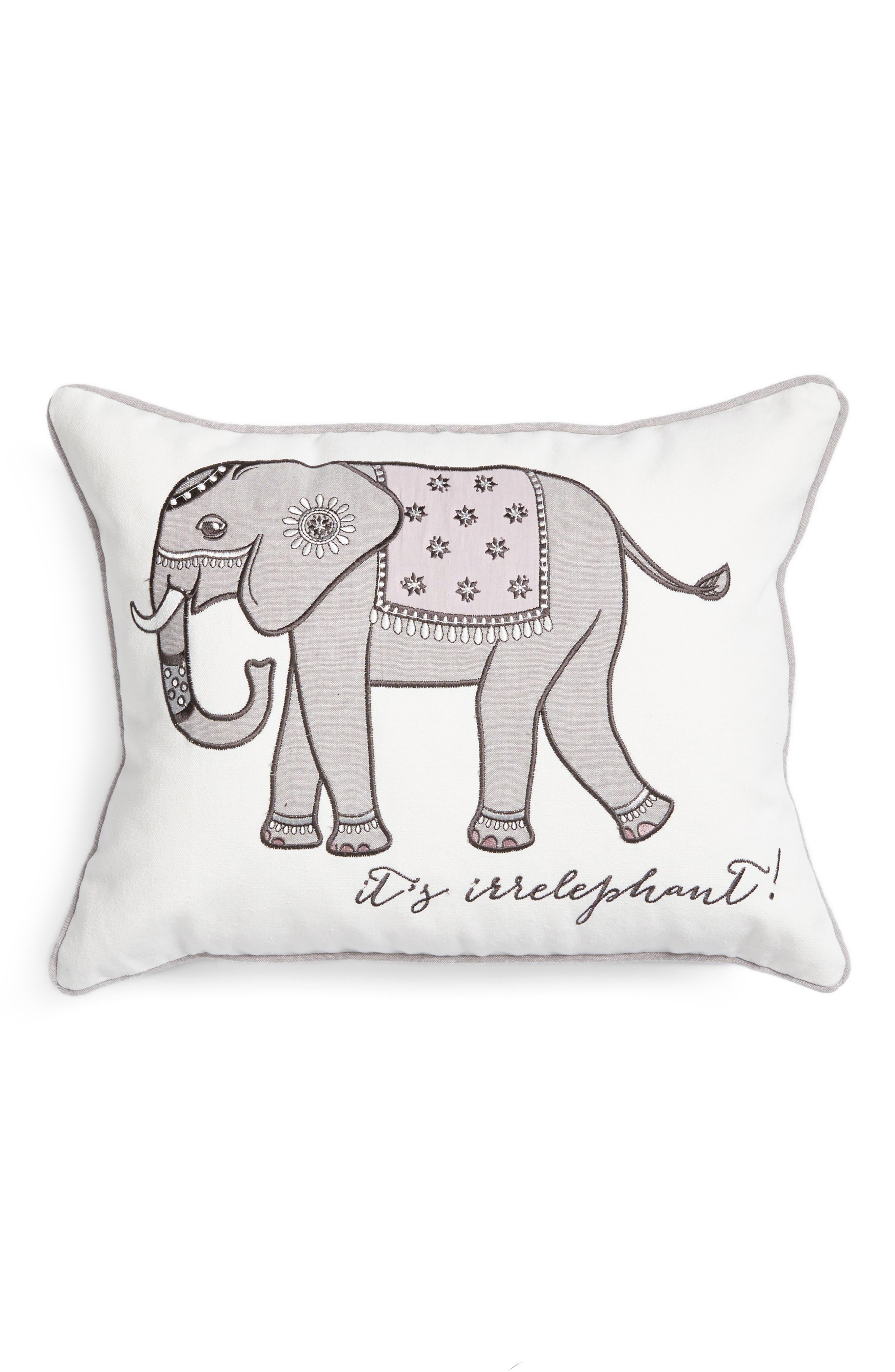 Parma Lavender Elephant Accent Pillow,                             Main thumbnail 1, color,                             900