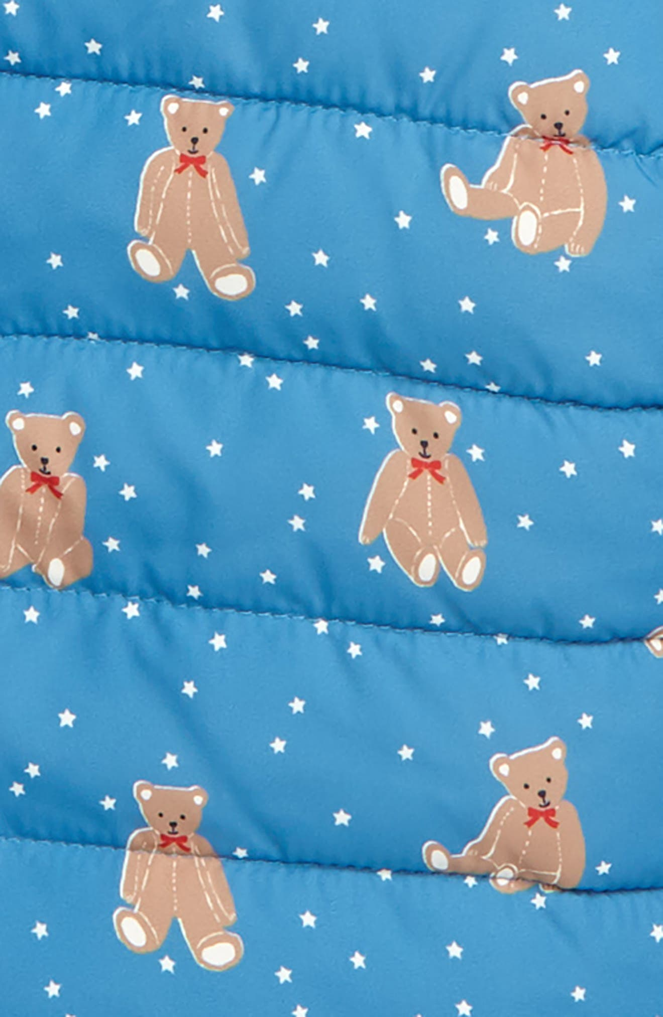 MINI BODEN,                             Babysaurus Water Resistant Quilted Puffer Coat,                             Alternate thumbnail 2, color,                             BLU AZURE BLUE BABY BEARS