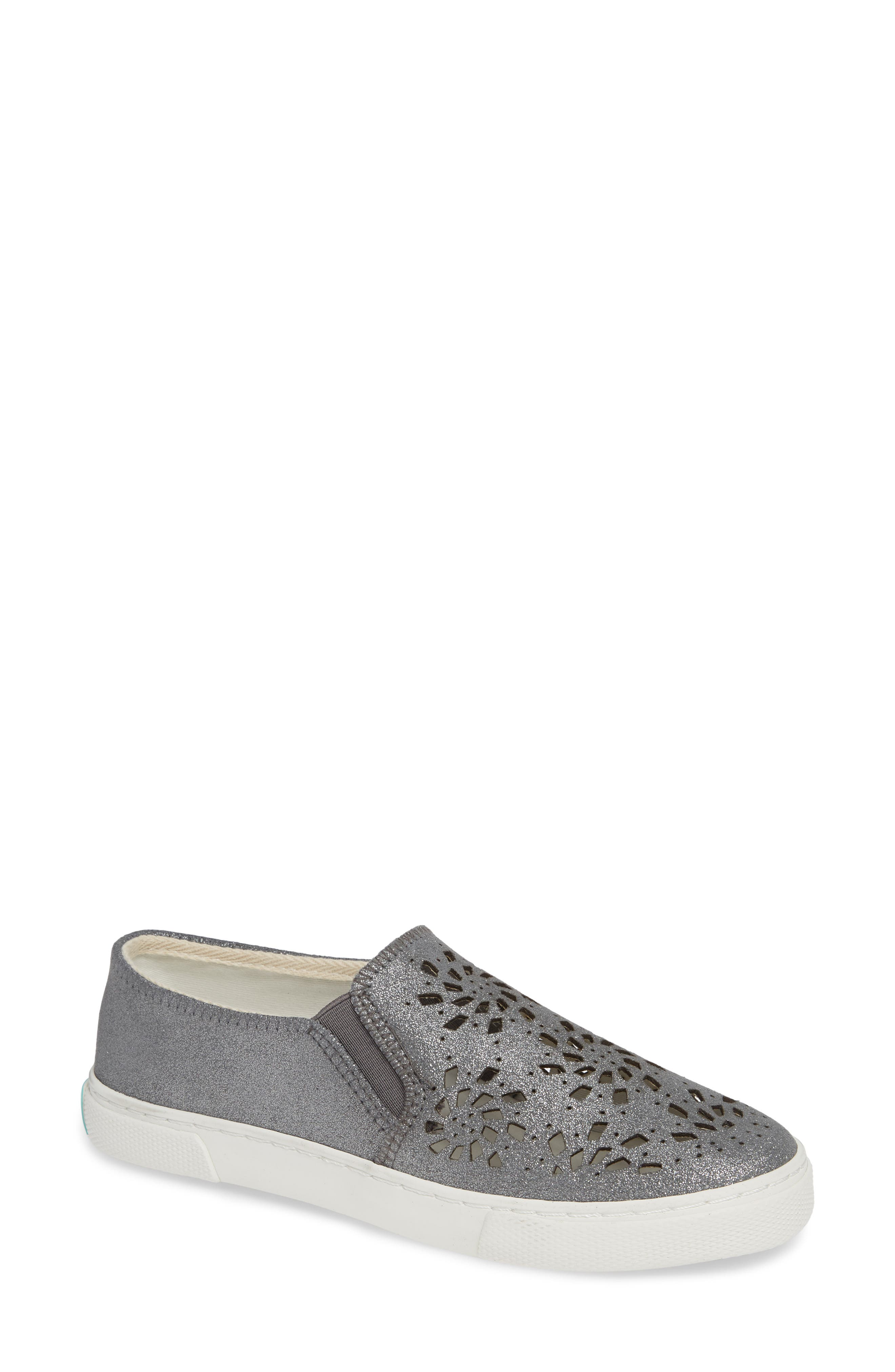 Violet Slip-On Sneaker,                             Main thumbnail 1, color,                             CHARCOAL LEATHER
