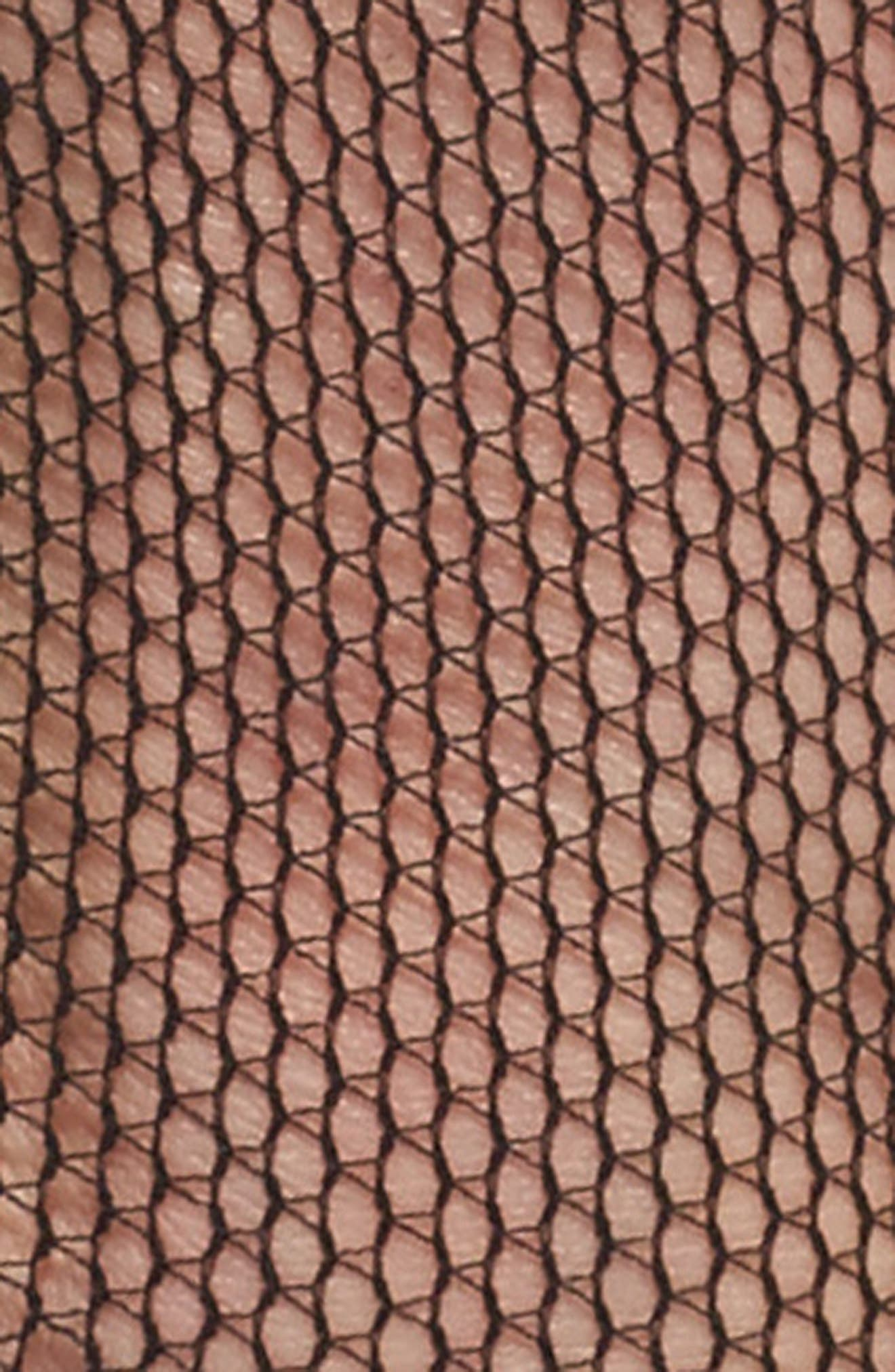 Fishnet Ankle Socks,                             Alternate thumbnail 2, color,                             001